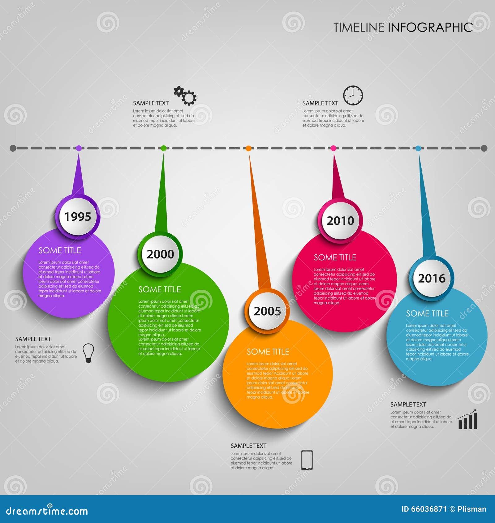 Línea De Tiempo Gráfico De La Información Con La Plantilla Circular ...