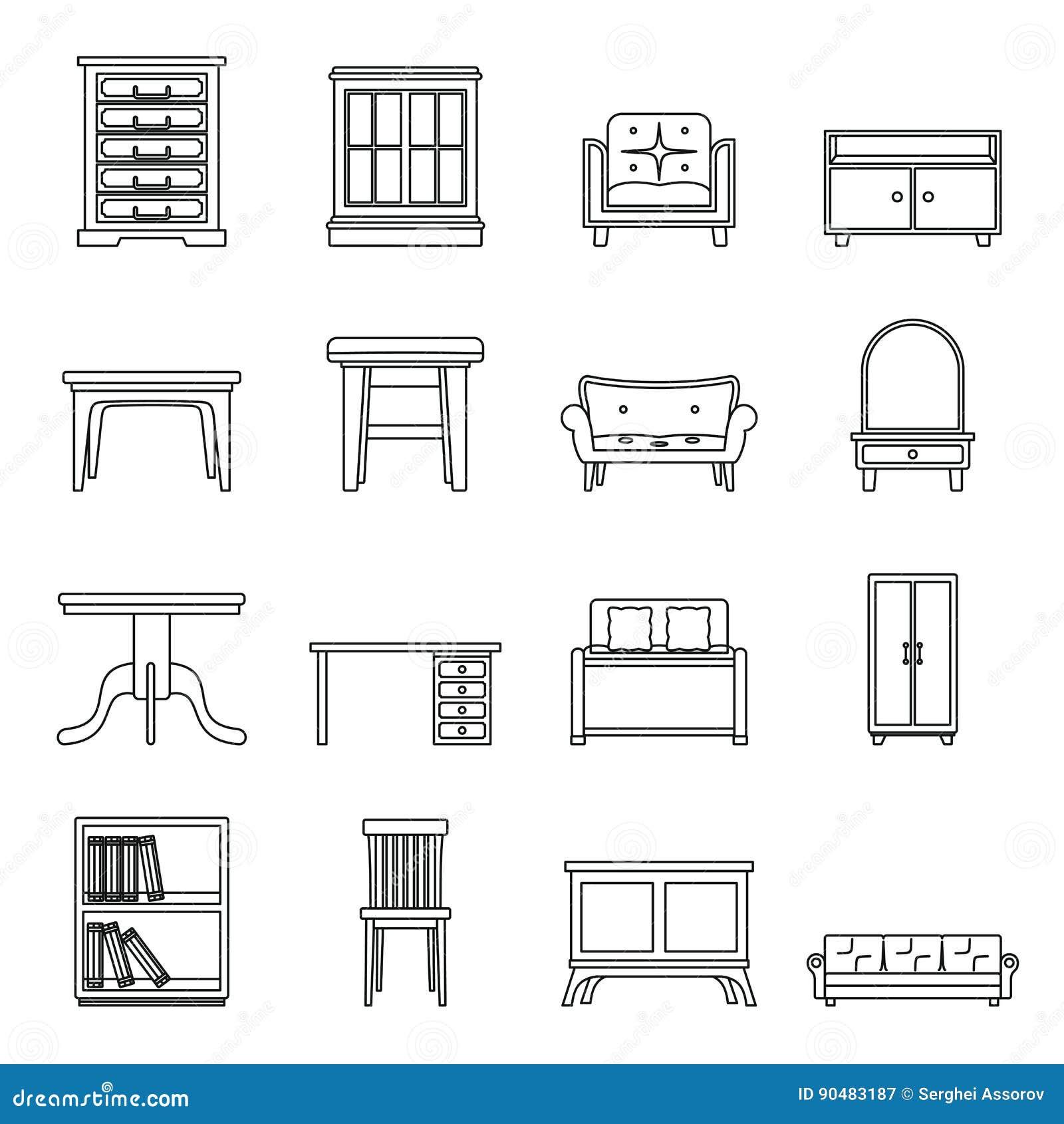 L nea determinada oficina del negro plano y muebles de la - La casa muebles ...