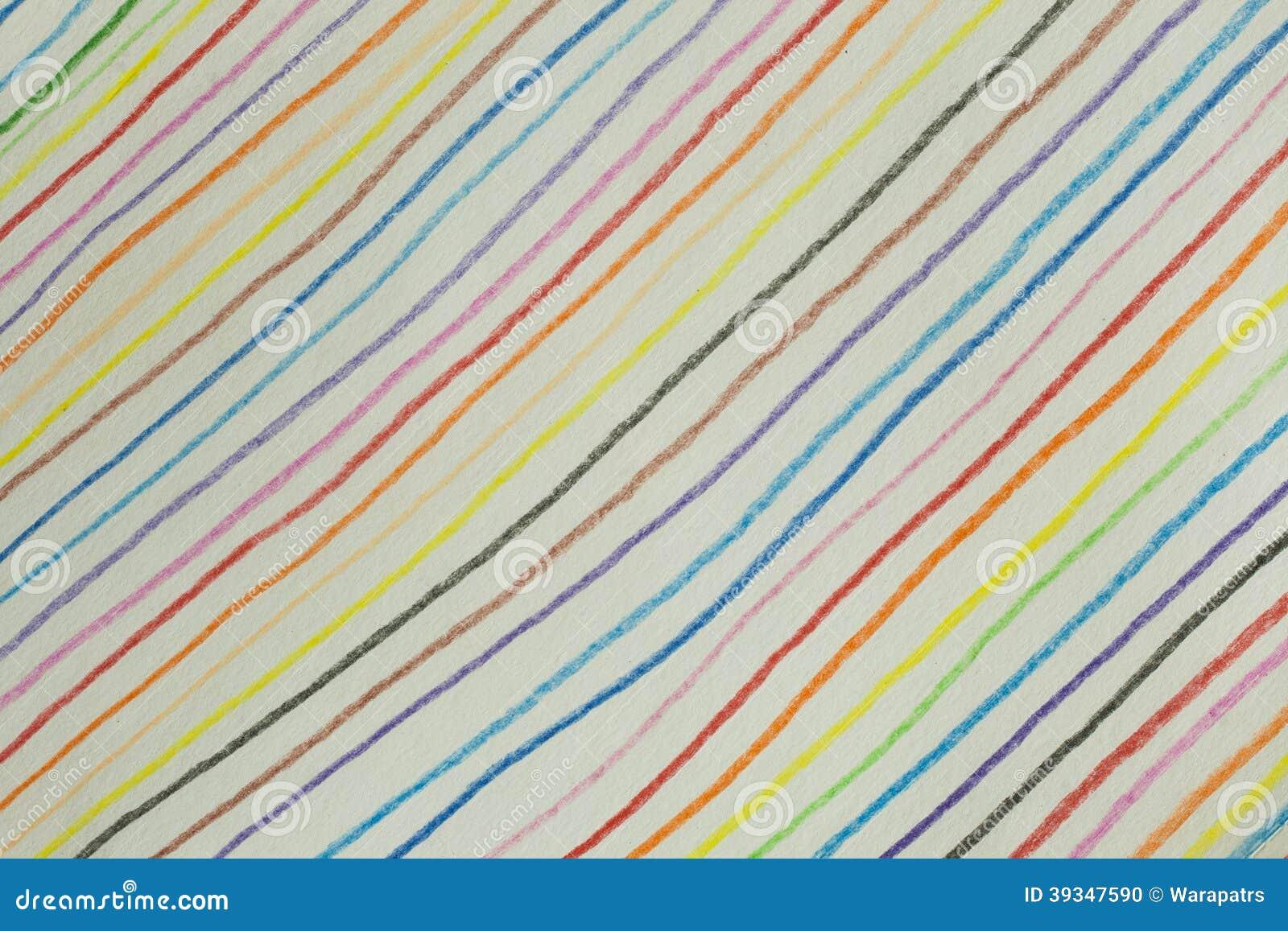 Línea Diagonal Colorida Fondo Hecho De Color Del Lápiz Foto de ...