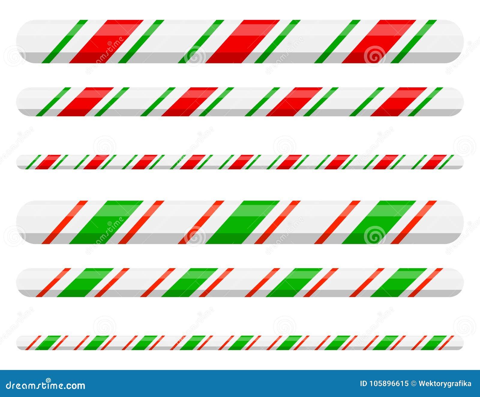 Línea divisor del bastón de caramelo de la frontera para el diseño de la Navidad encendido