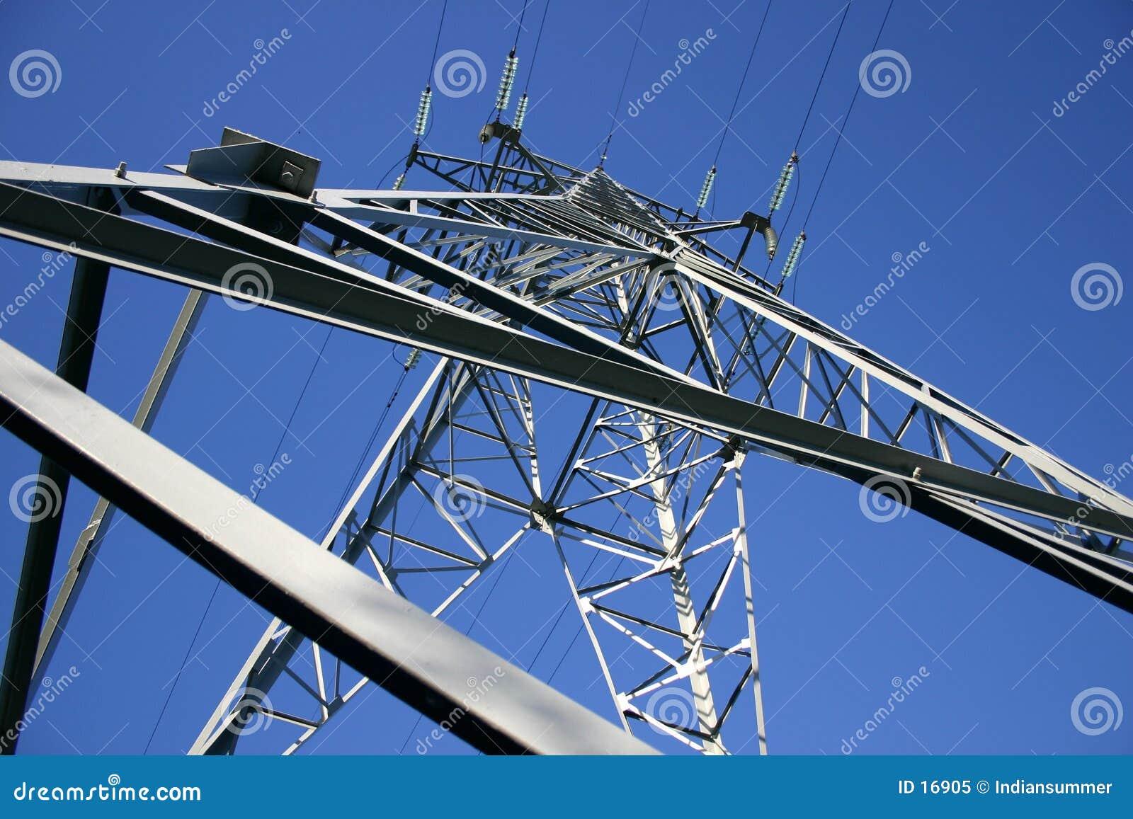 Línea eléctrica V