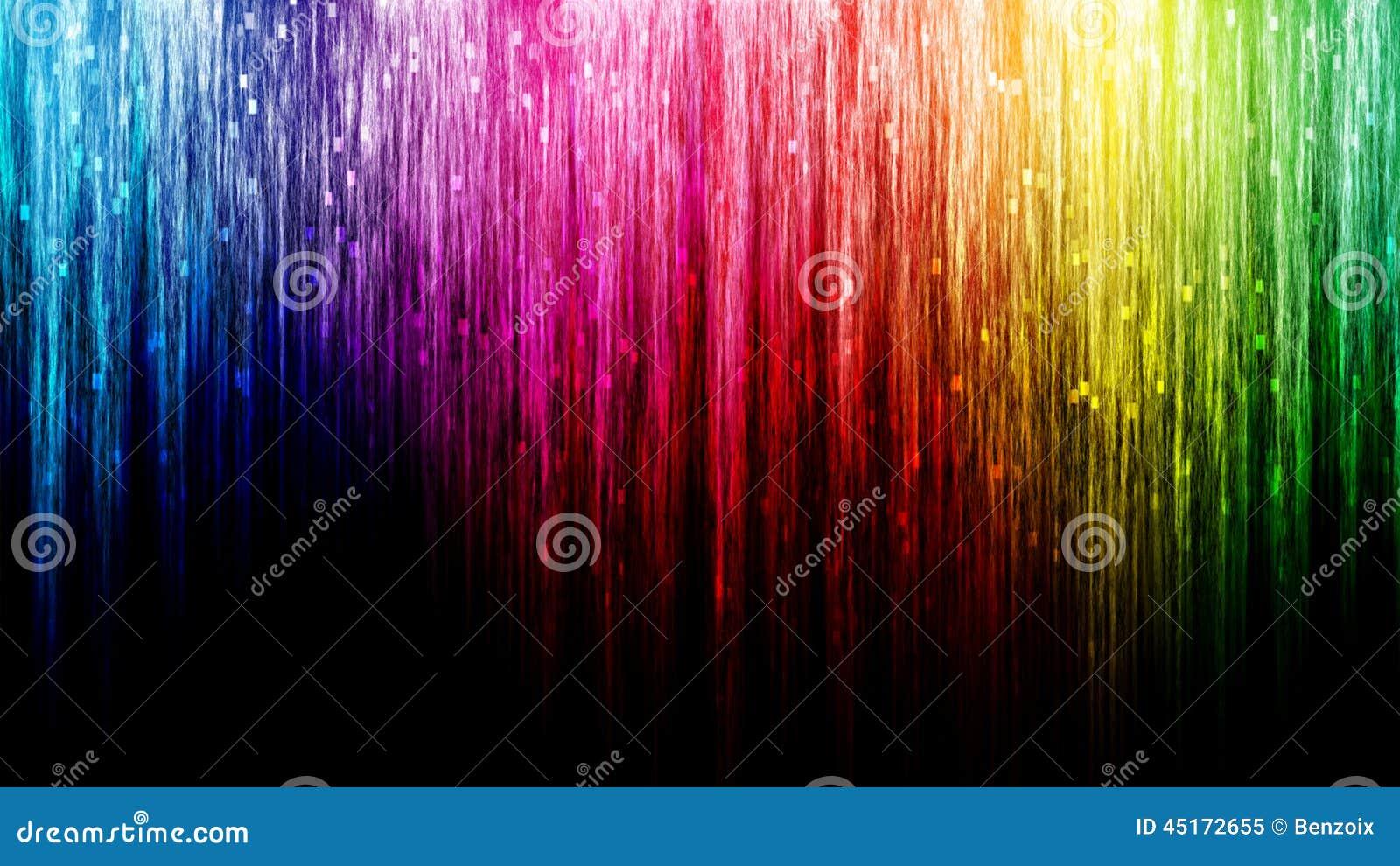 Línea fondo del arco iris del extracto del bokeh