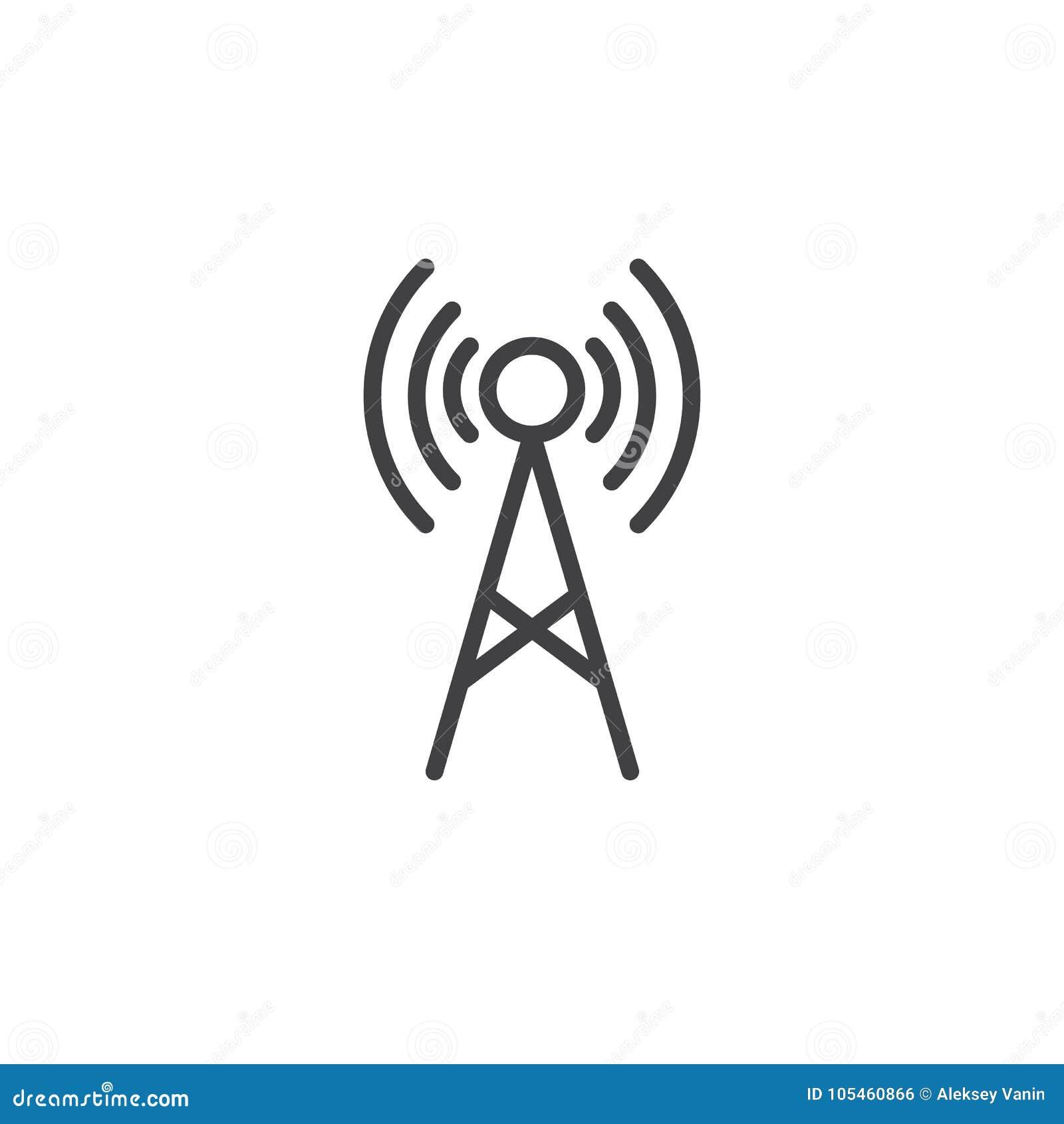 Línea icono de la antena