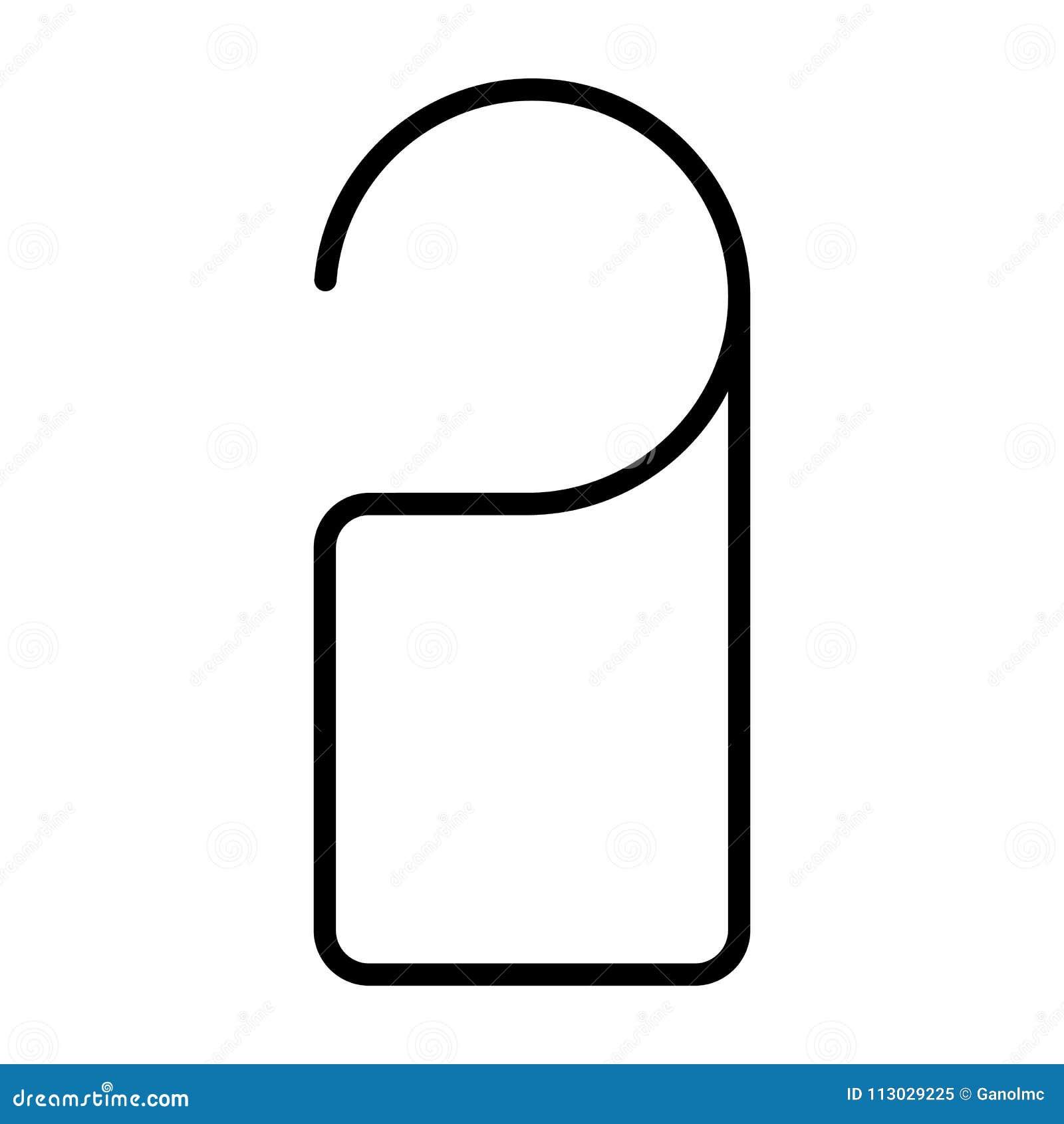 Línea icono de la ejecución de la etiqueta de la puerta Pictograma mínimo simple 96x96 del vector No disturbe la muestra
