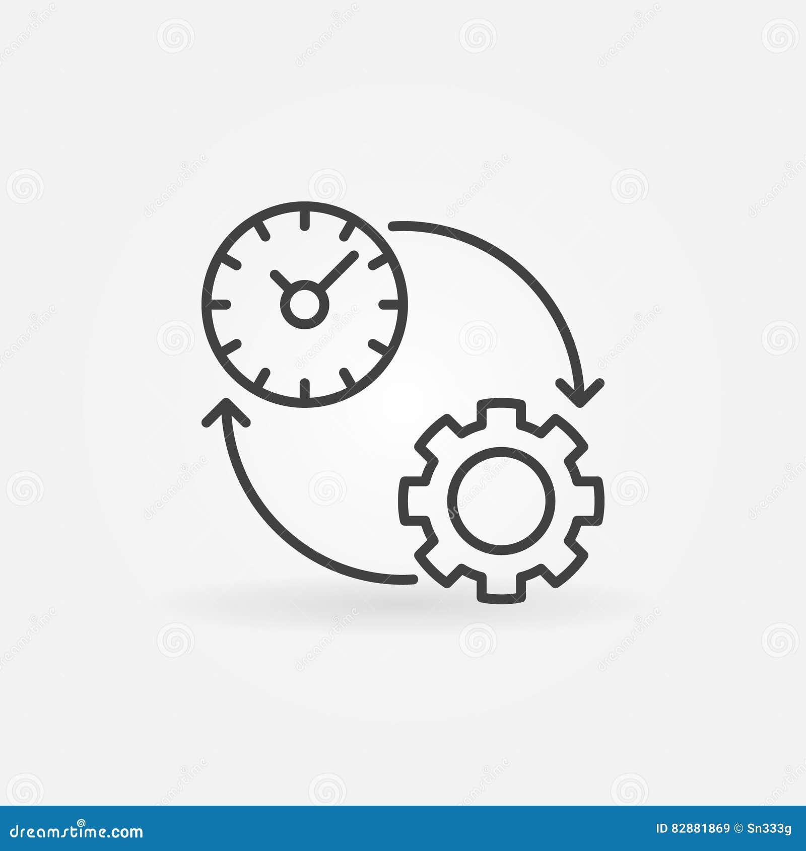 Línea icono de la productividad