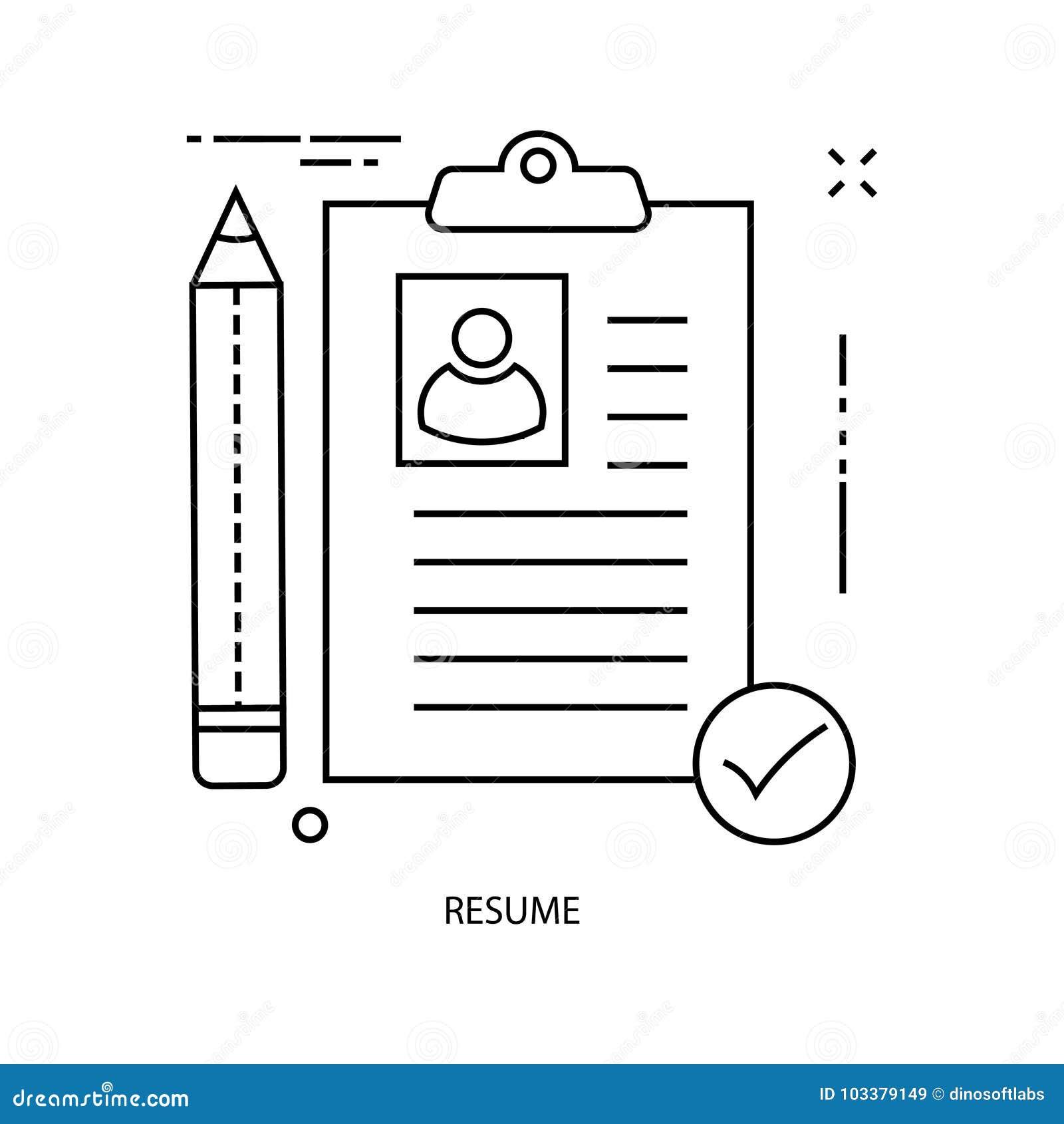 Línea icono del documento del ejemplo