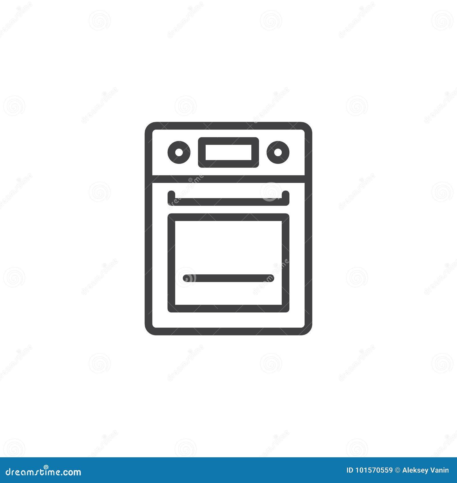 Línea icono del horno