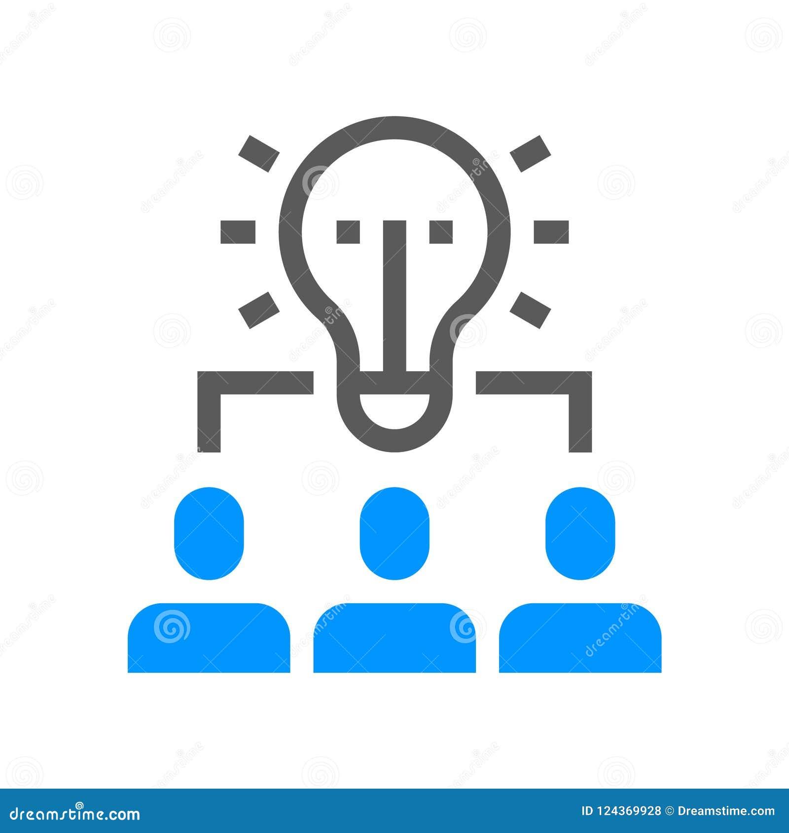 Línea icono del vector de la gestión de recursos humanos Team el trabajo Movimiento Editable pixel 48x48 perfecto