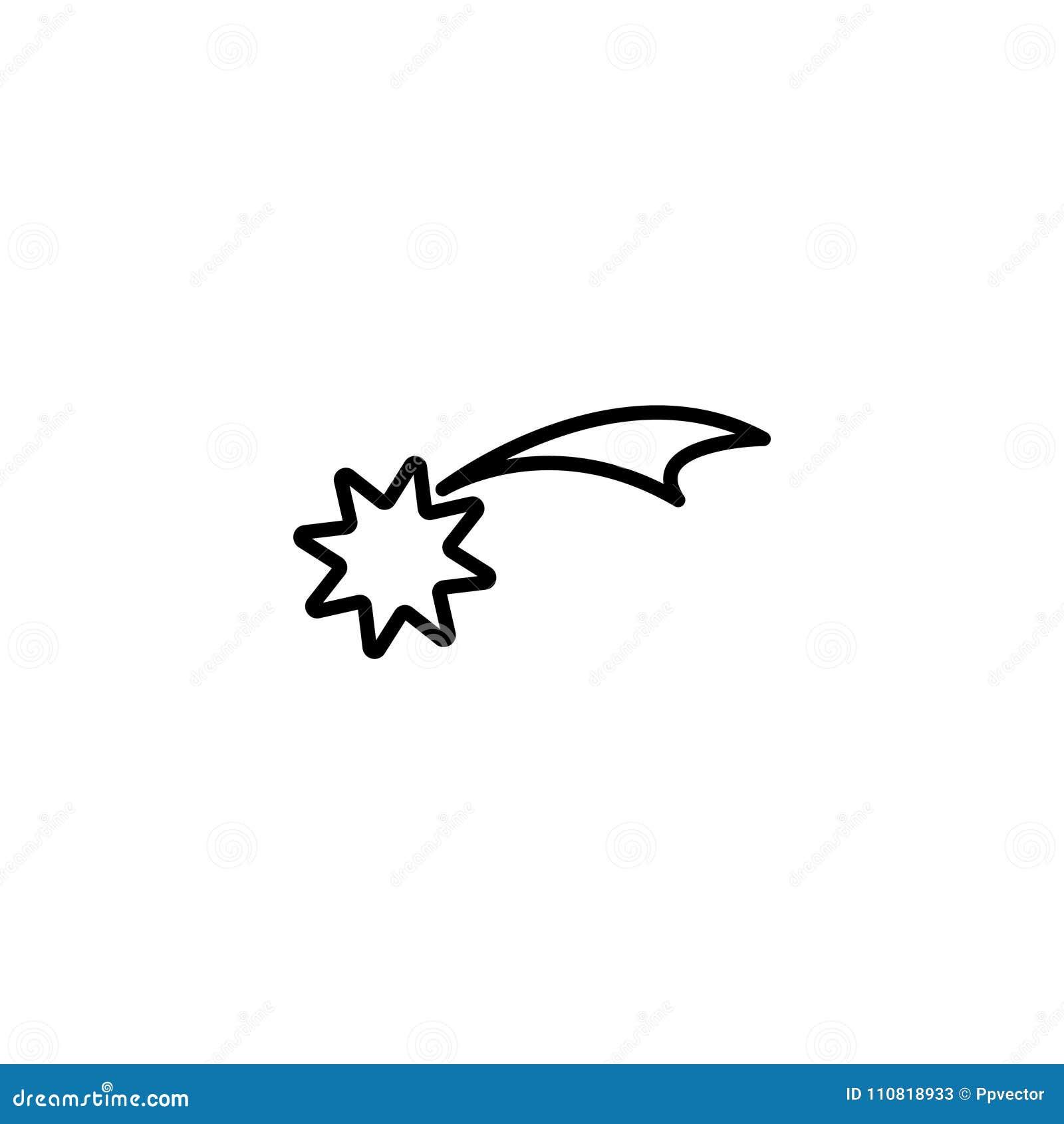 Línea icono Estrella de la Navidad, estrella de Belén