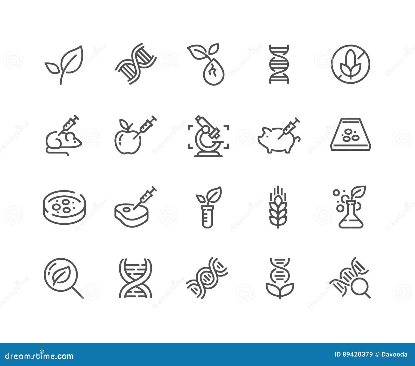 Línea iconos de la OGM
