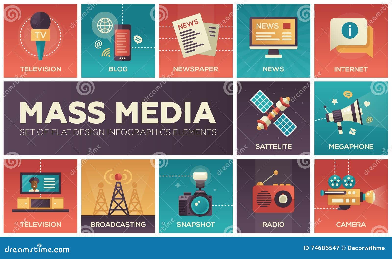 Línea iconos de los medios de comunicación del diseño fijados