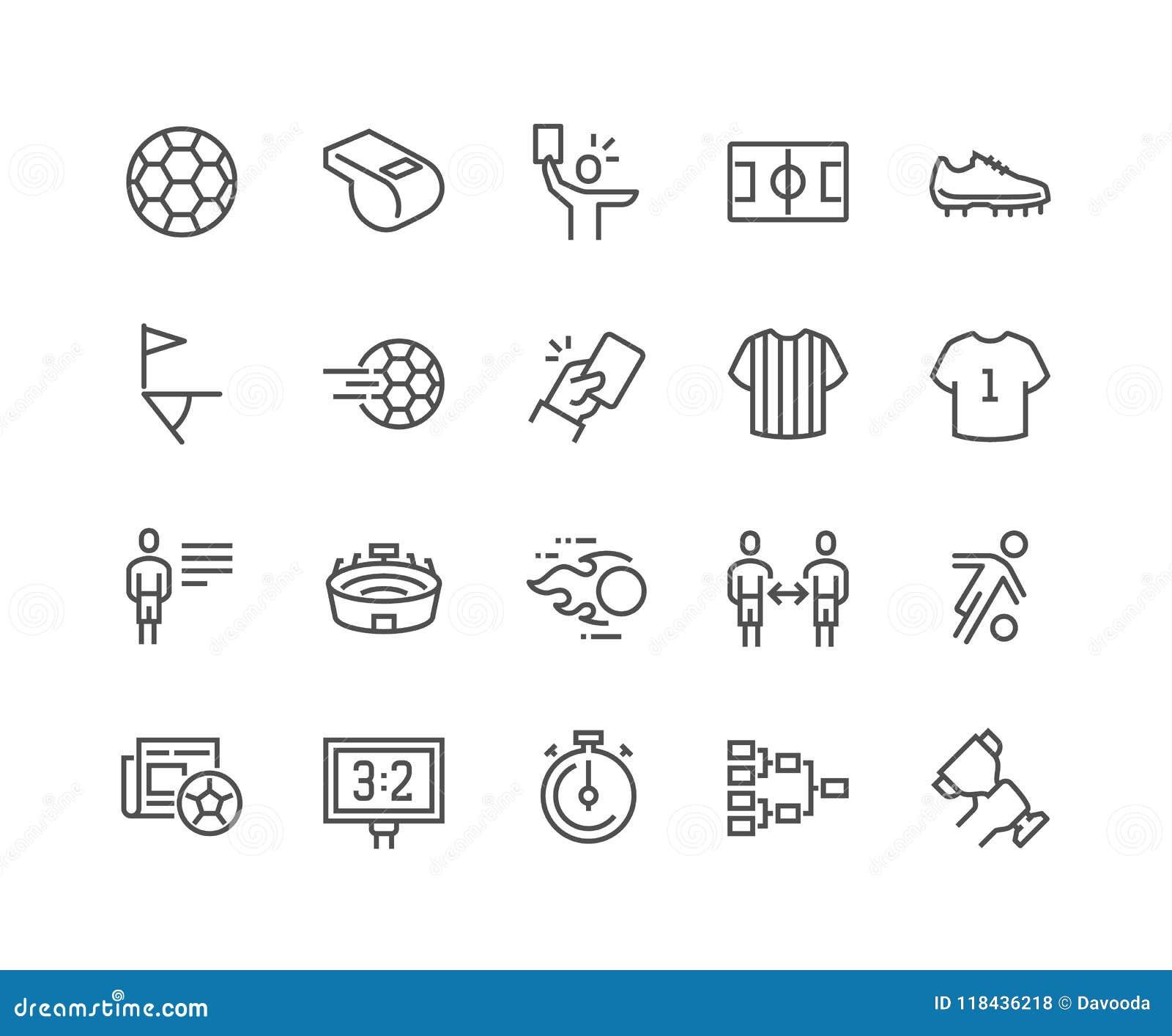 Línea iconos del fútbol