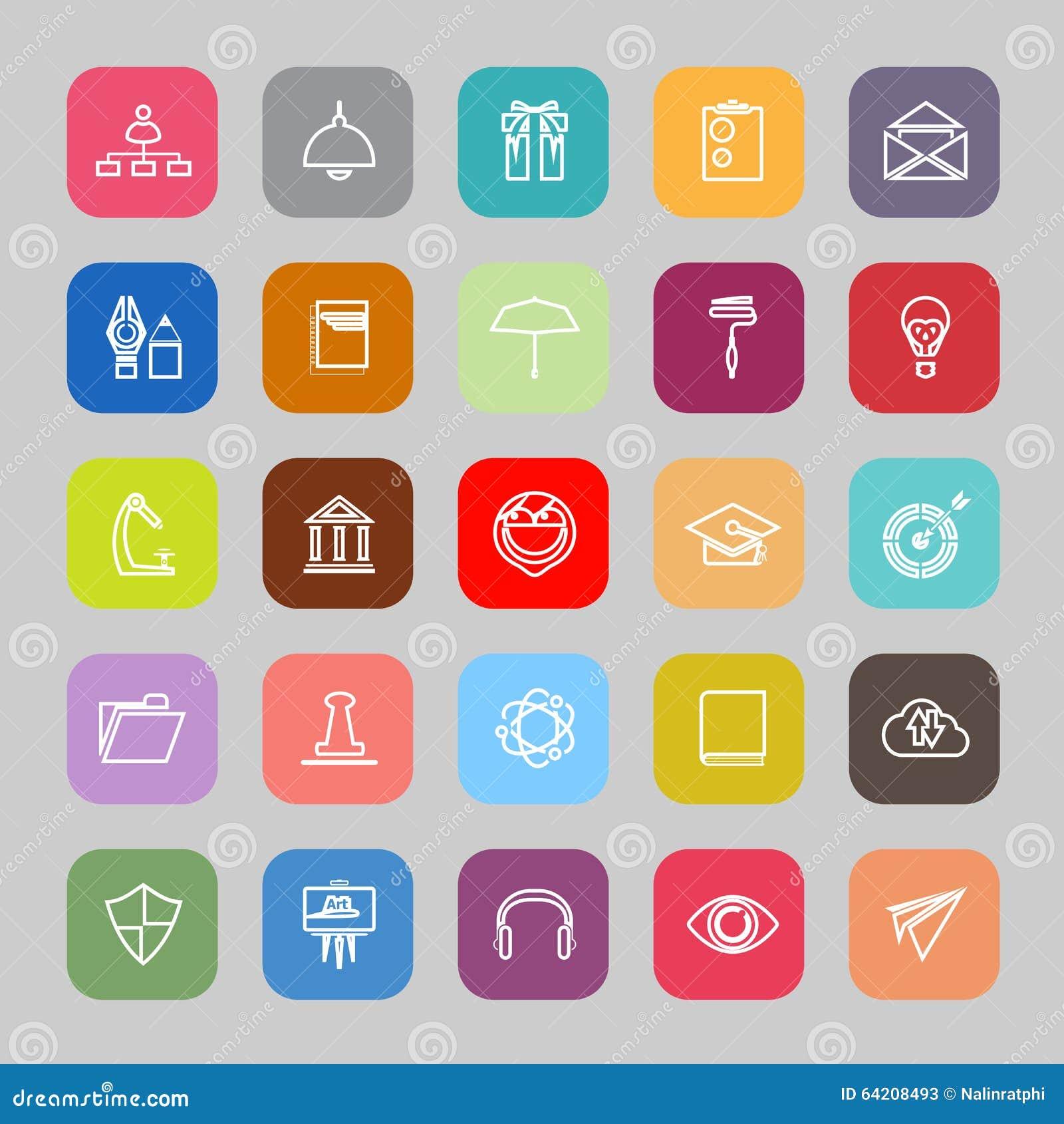 Línea iconos planos del curriculum vitae del trabajo