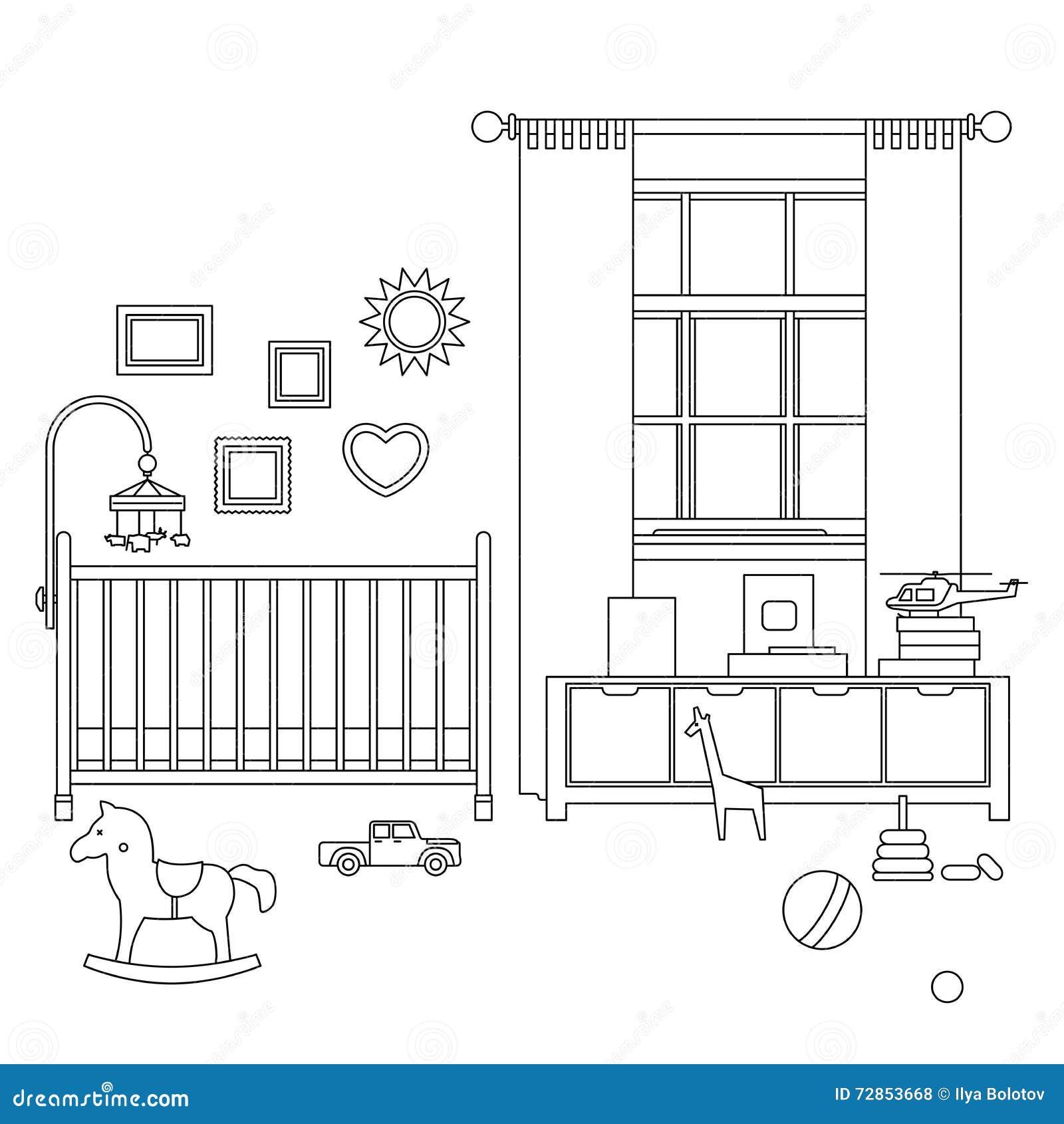 Línea interior del sitio del bebé