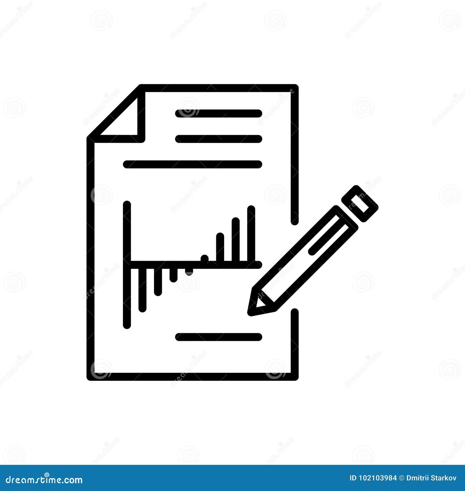 Línea moderna icono del informe