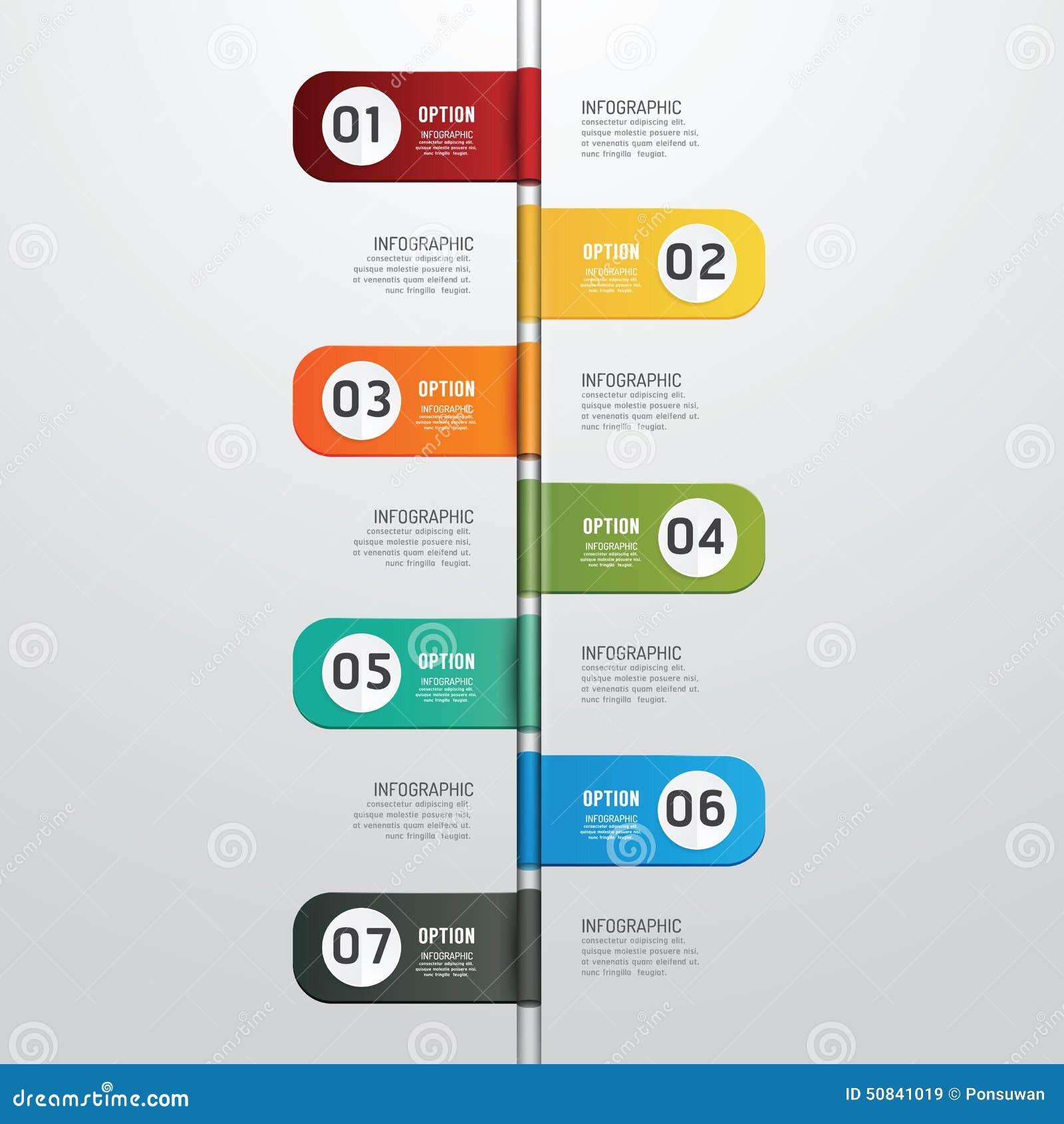 Línea Moderna Plantilla Infographic De Tiempo De Diseño Del Estilo ...