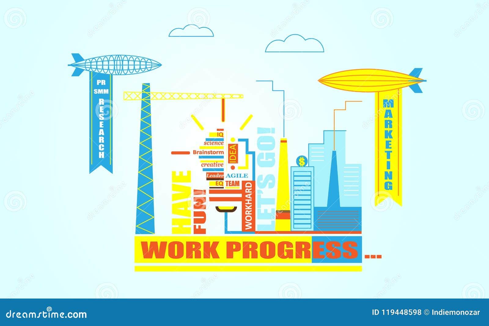 Línea plana diseño de plantilla de la bandera del web con los iconos del esquema de la gestión de trabajo del equipo en idea gran