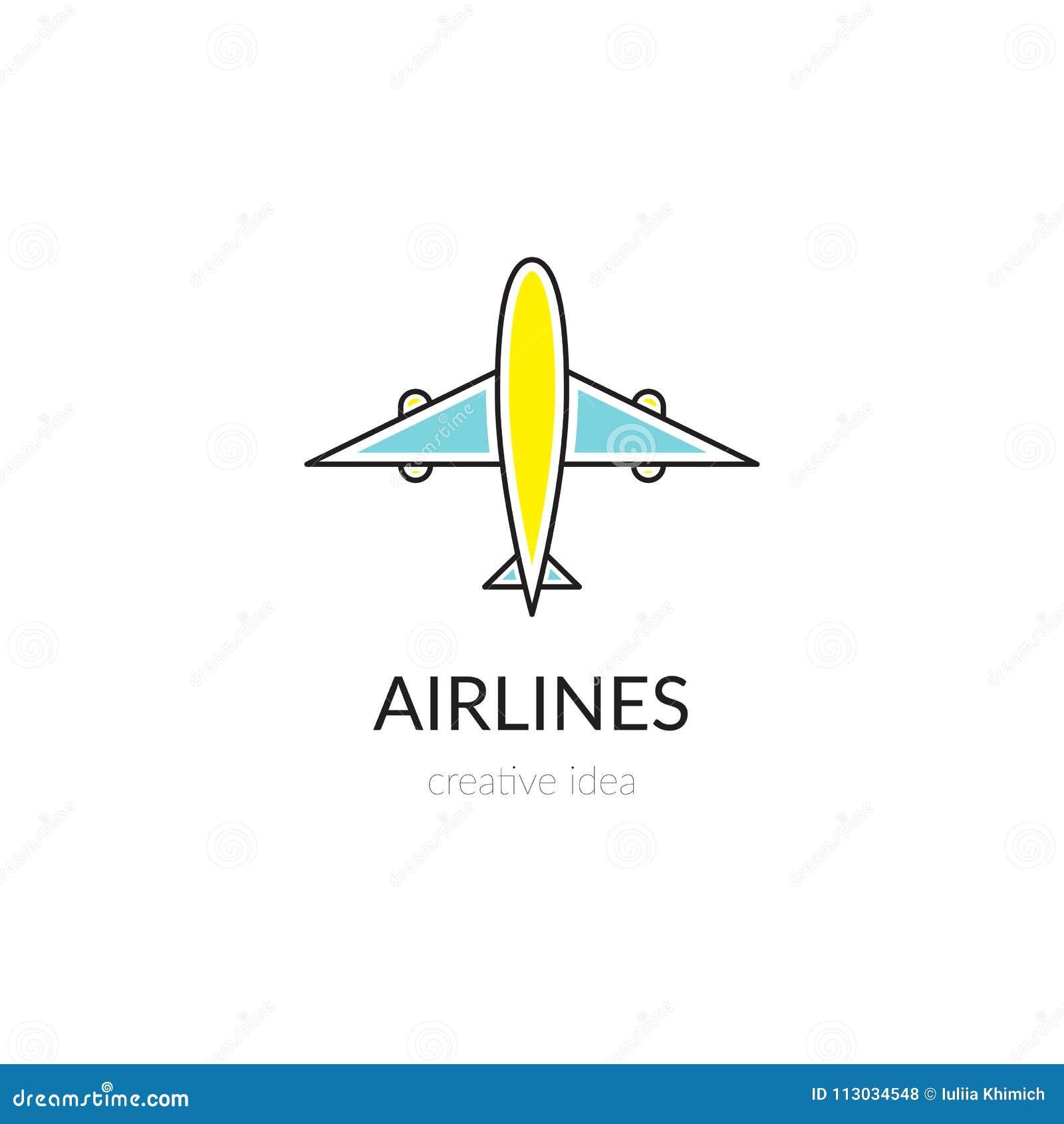 Línea plantilla de las líneas aéreas del logotipo