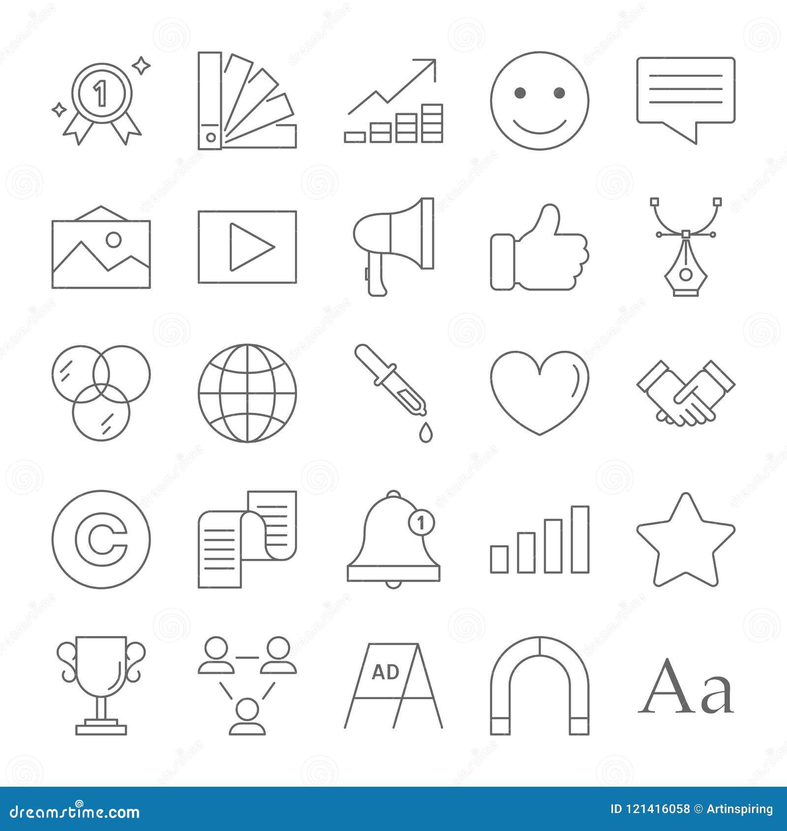 Línea sistema de la marca del icono