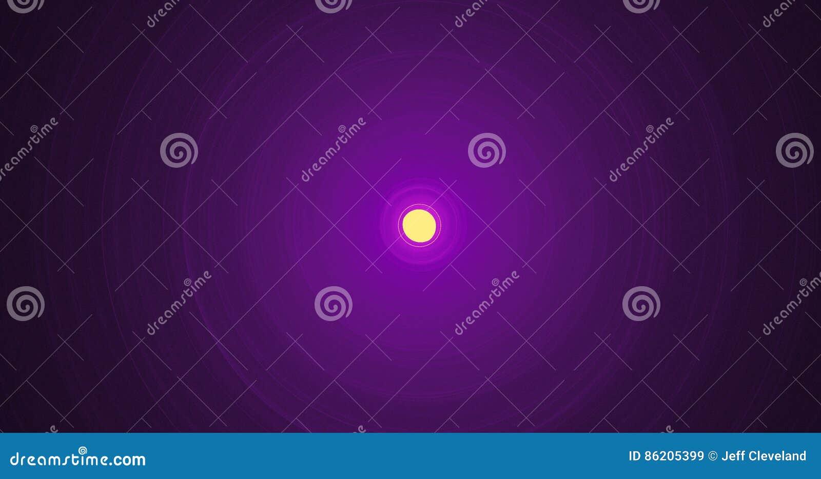 Líneas abstractas amarillas y púrpuras fondo de las partículas de las curvas