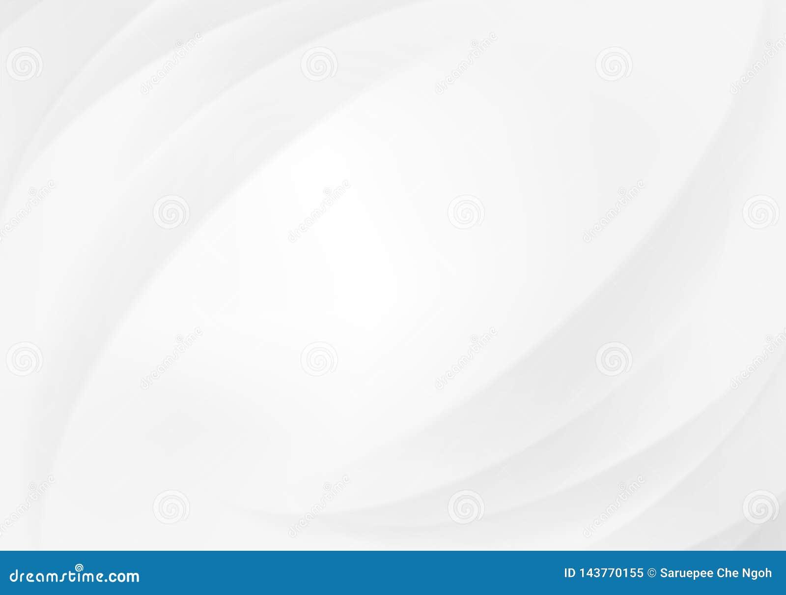 Líneas abstractas blanco y Gray Vector Backgrounds de las curvas