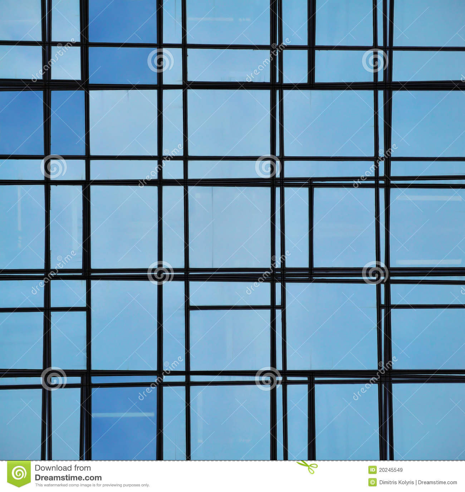 L neas abstractas de la fachada y reflexi n de cristal - Fachada de cristal ...