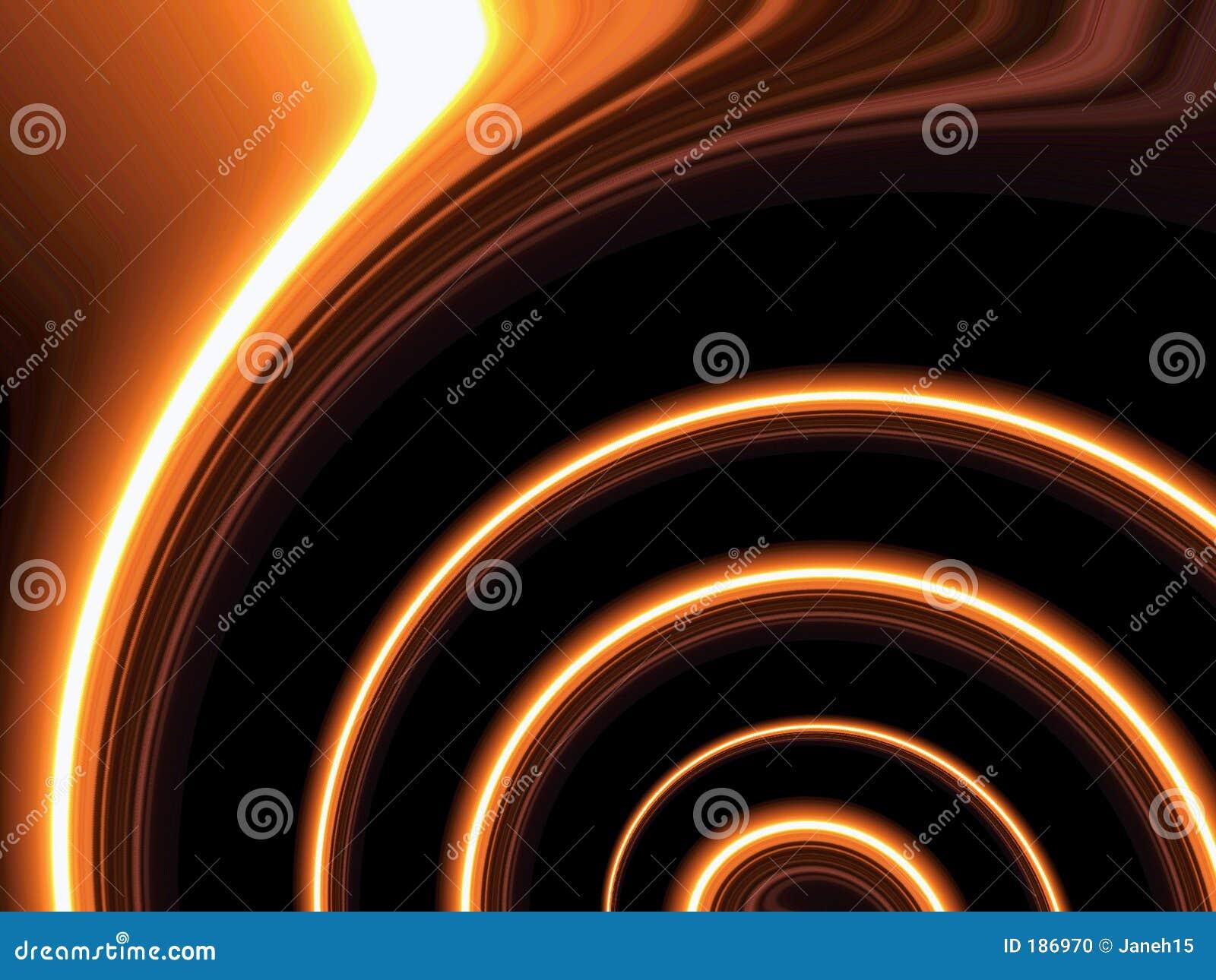 Líneas anaranjadas de giro