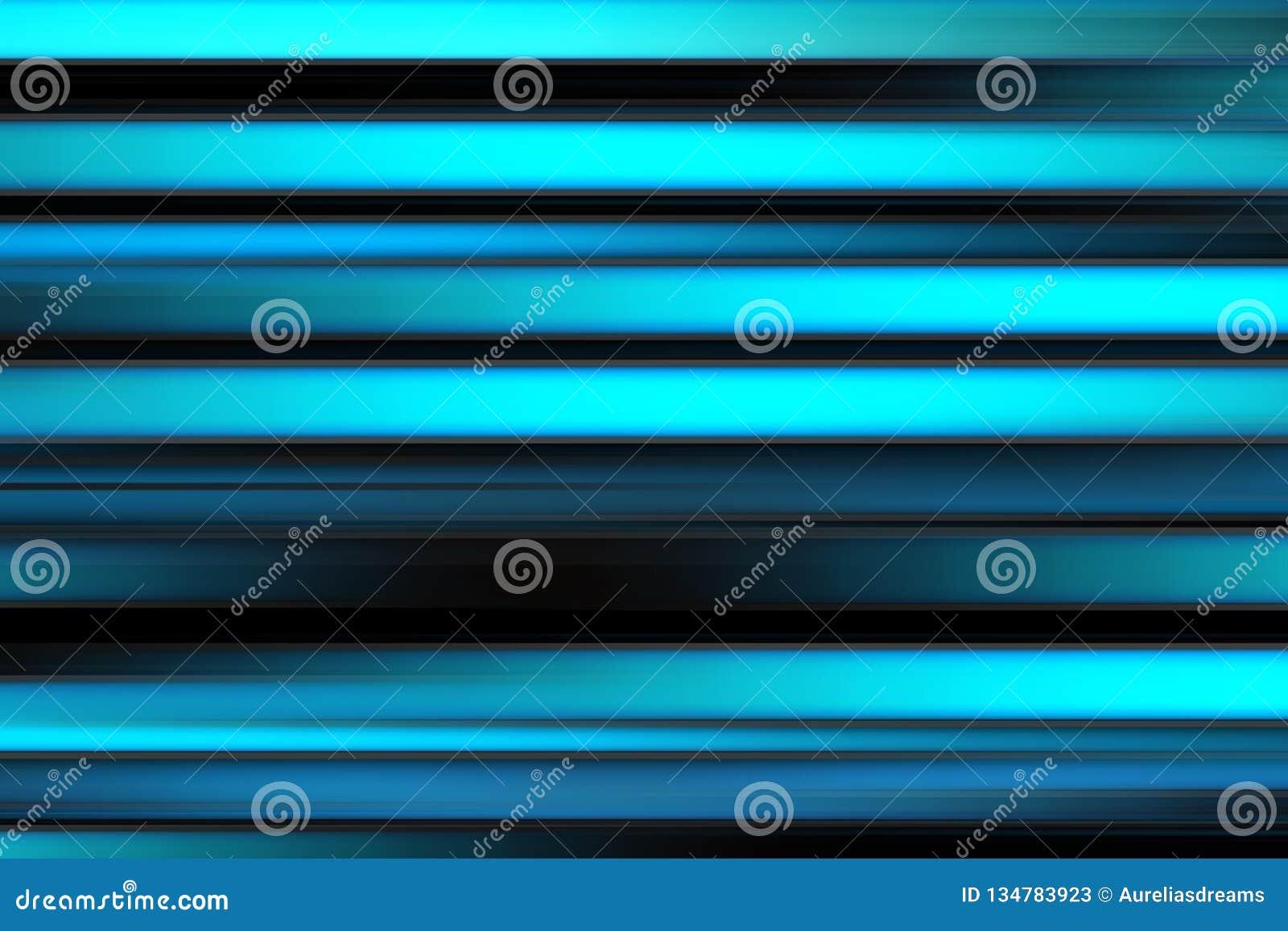 Líneas brillantes abstractas coloridas fondo, textura rayada horizontal en tonos negros, azules y ciánicos