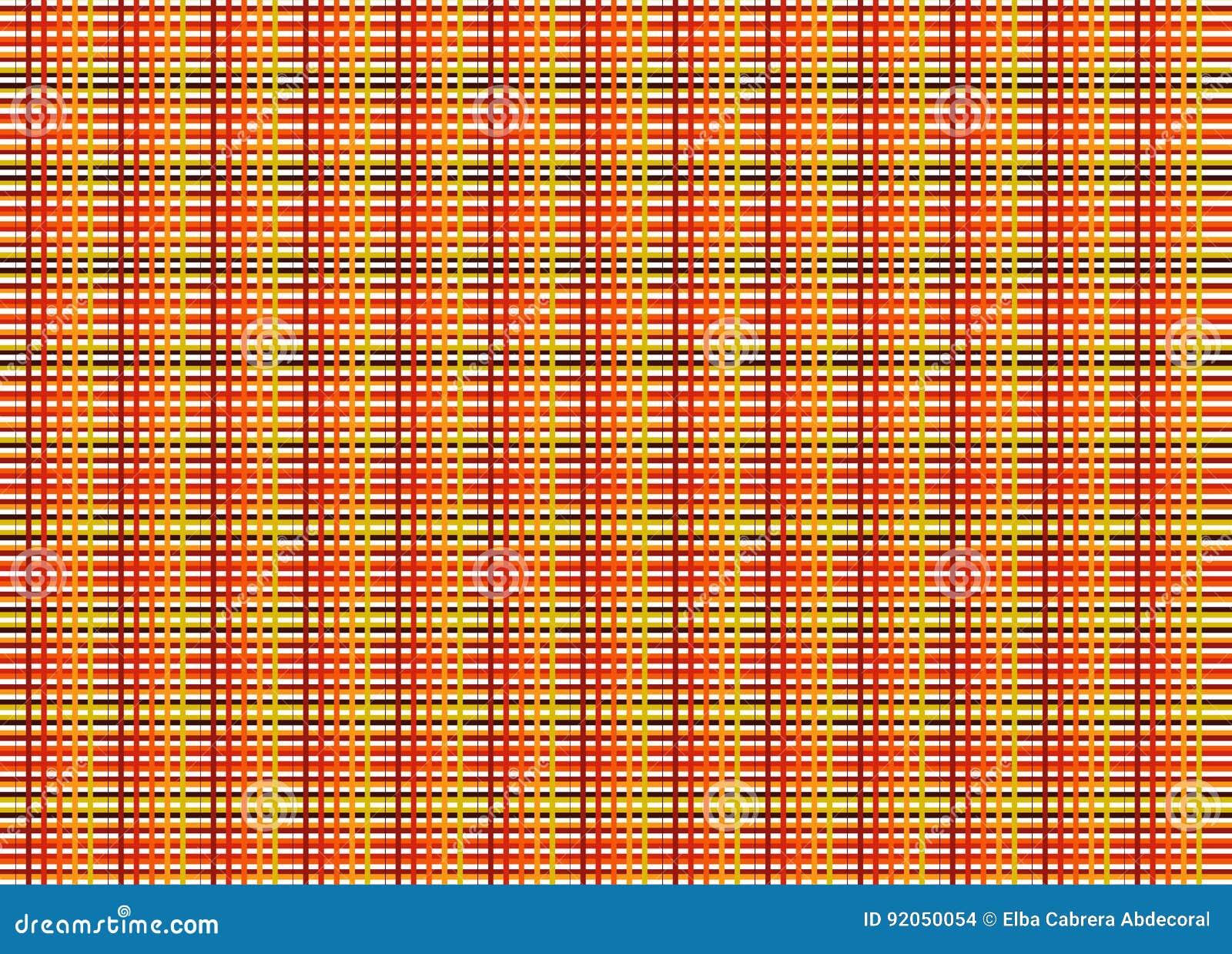 Líneas de color del ejemplo