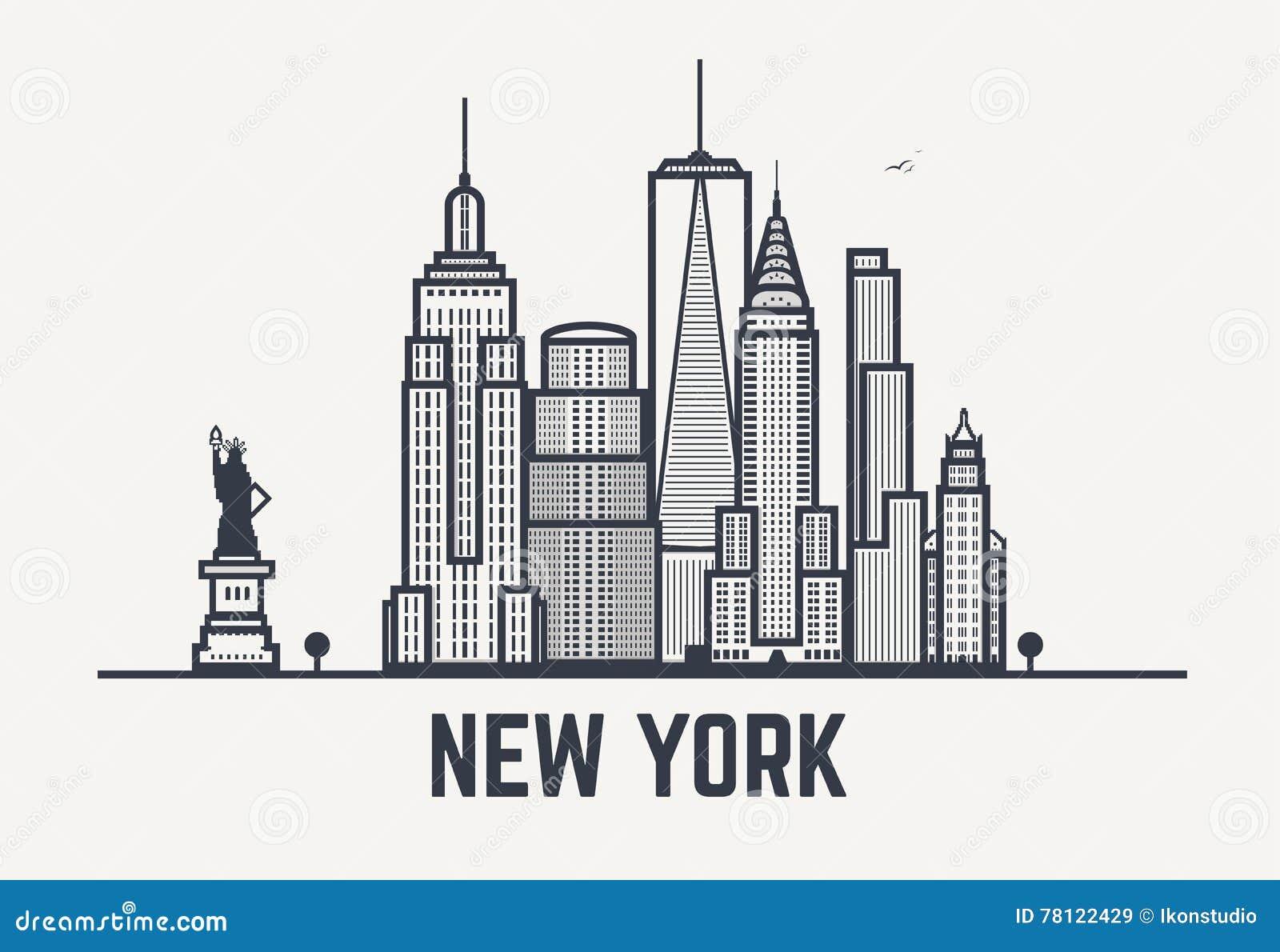 Líneas del negro de New York City