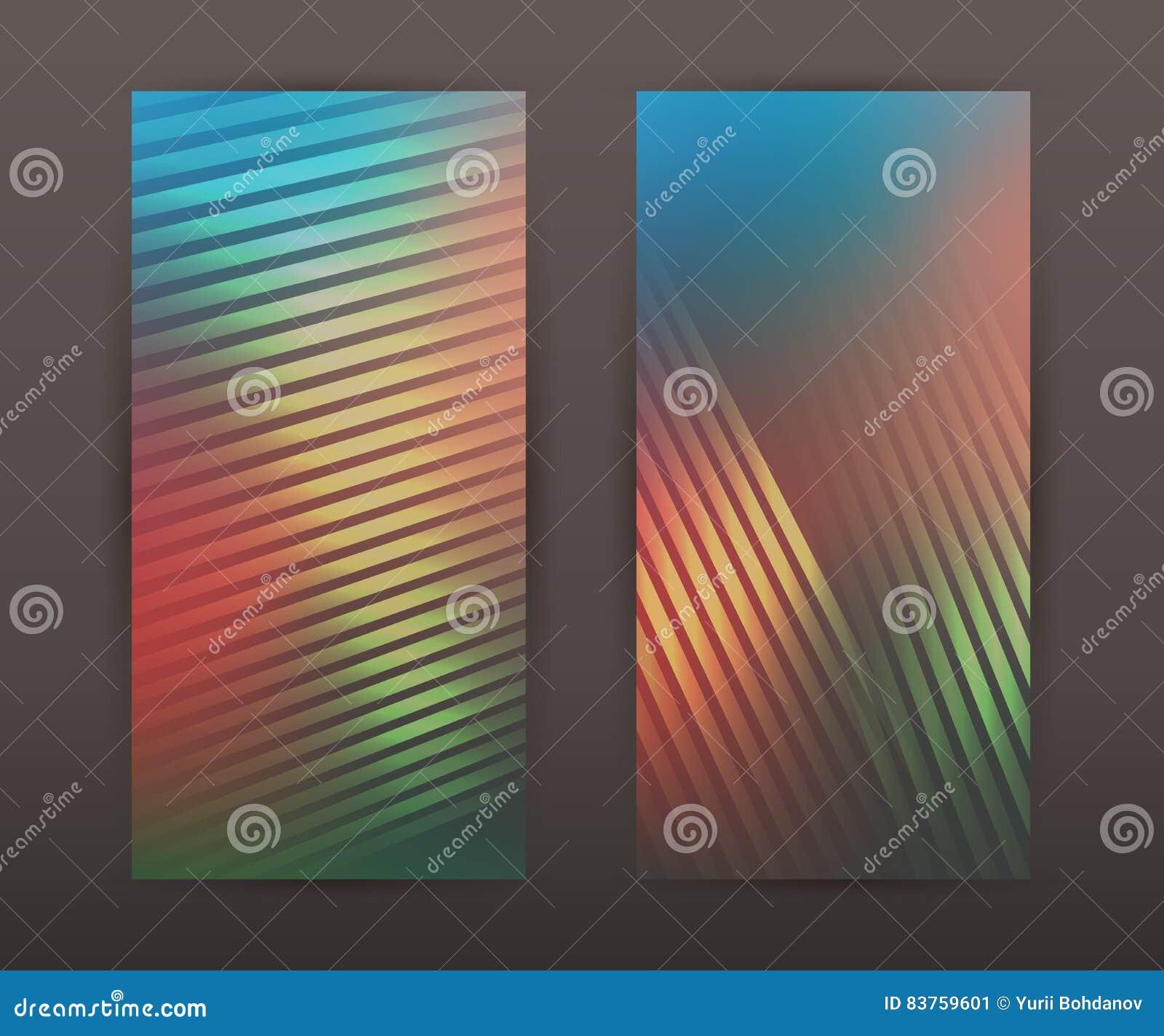 Líneas folleto determinado de la presentación de la bandera vertical del fondo