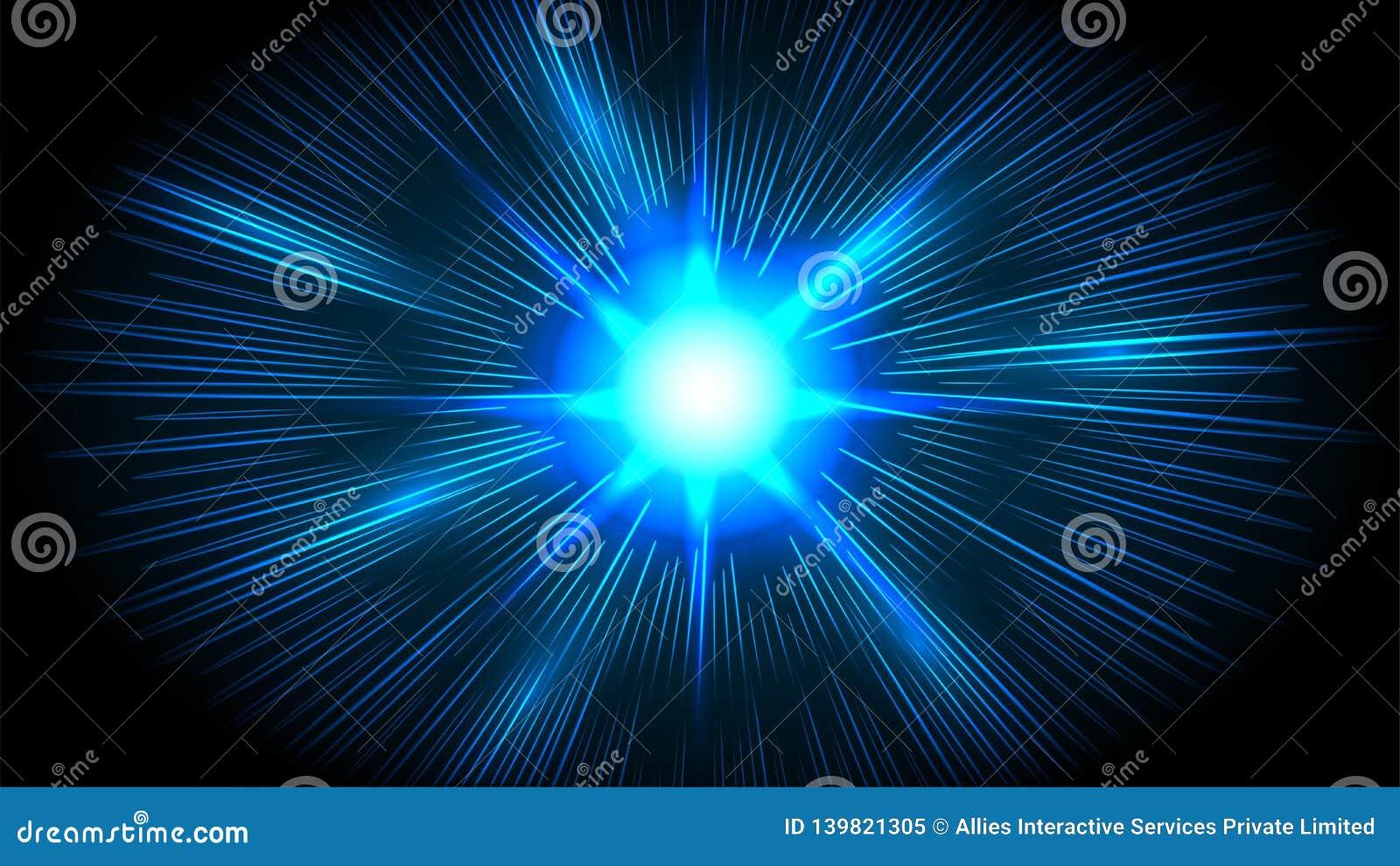 Líneas futuristas de la velocidad, fondo hyperspace del movimiento