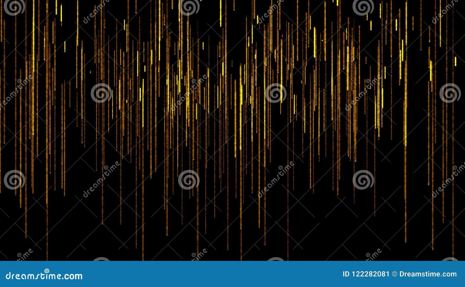 Líneas hermosas y asombrosas que caen abajo ejemplo abstracto