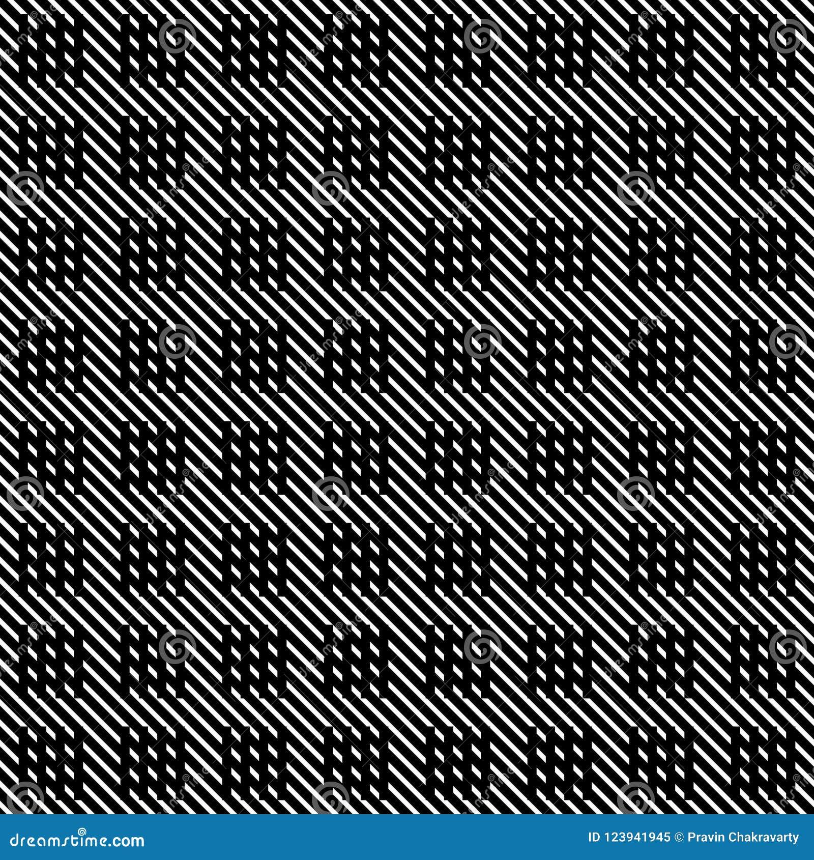 Líneas inconsútiles modelo del vector blanco y negro Papel pintado abstracto del fondo Ilustración del vector