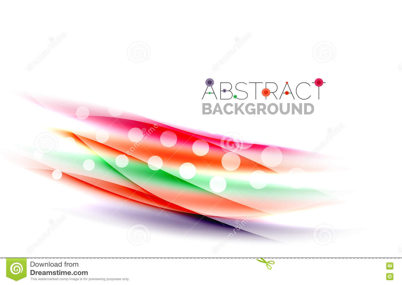 Líneas onduladas del color con efectos brillantes ligeros Modelo abstracto del fondo