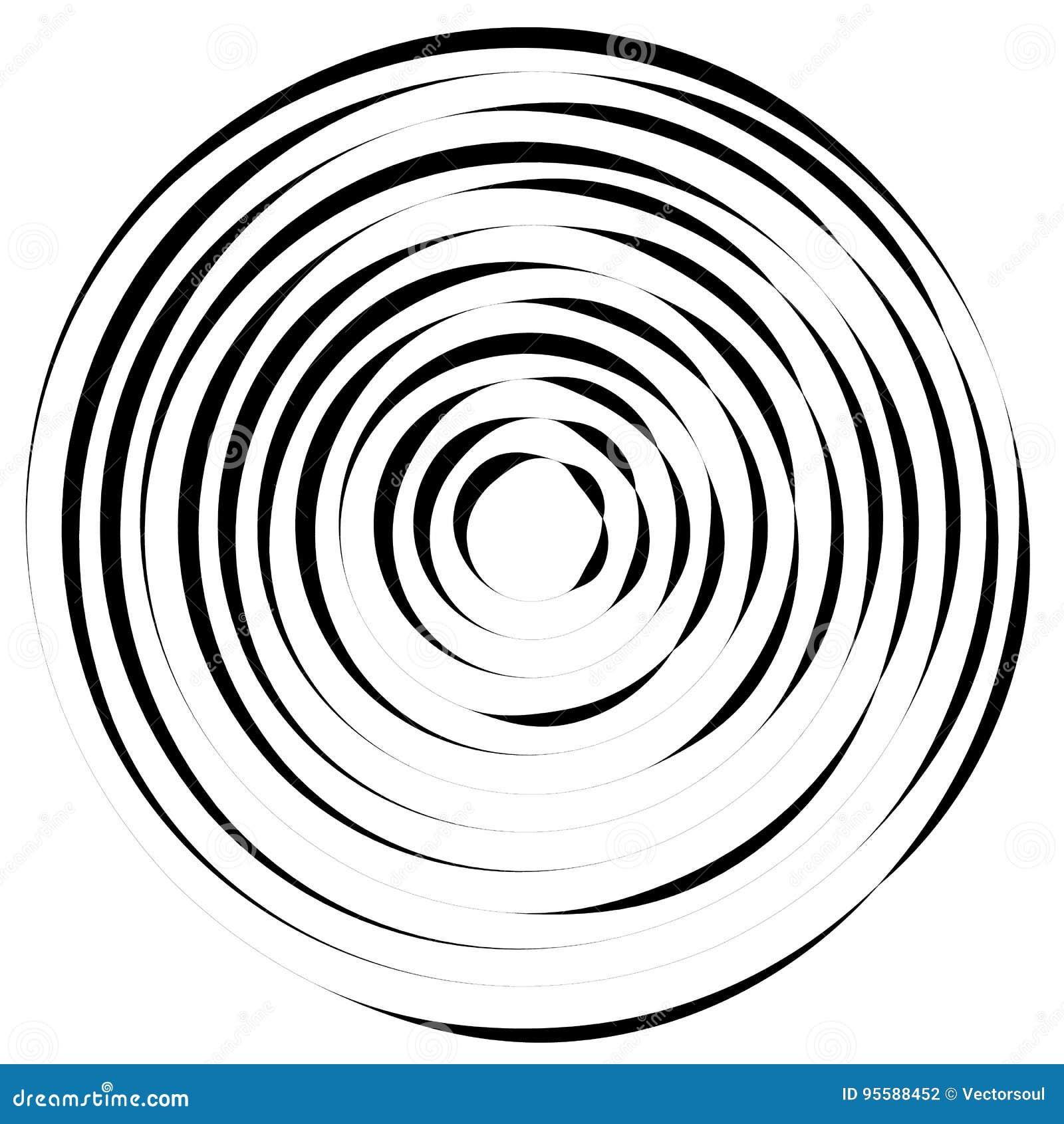 Líneas radiales con la distorsión giratoria Espiral abstracto, vórtice s