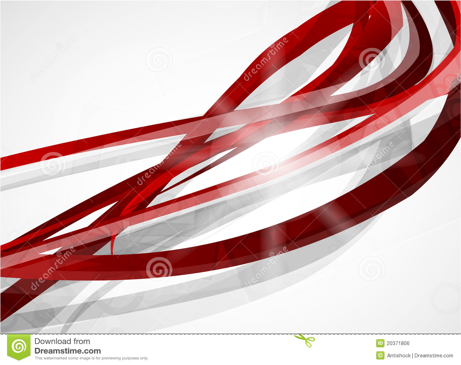 Líneas rojas abstractas fondo del vector
