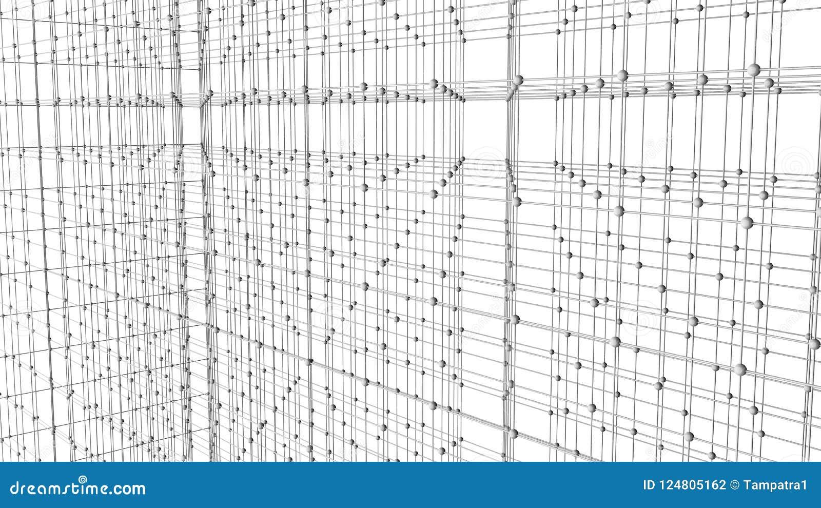 Líneas y esferas del triángulo de los datos de Digitaces y de la conexión de red i