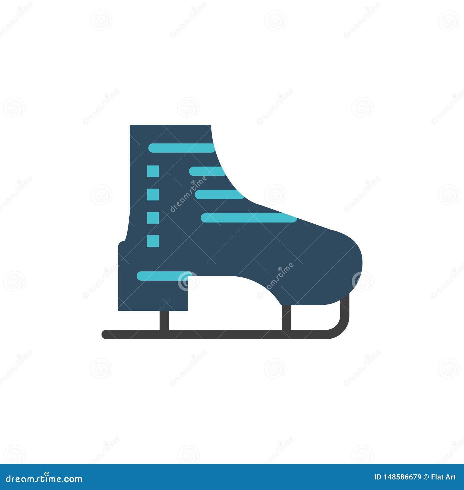 But, lód, łyżwa, łyżwy, Łyżwiarska Płaska kolor ikona Wektorowy ikona sztandaru szablon