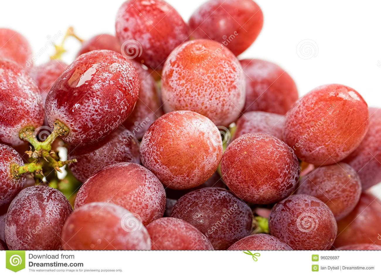 Lód - zimni czerwoni winogrona Składnik przygotowywający dla robić zdrowej owoc