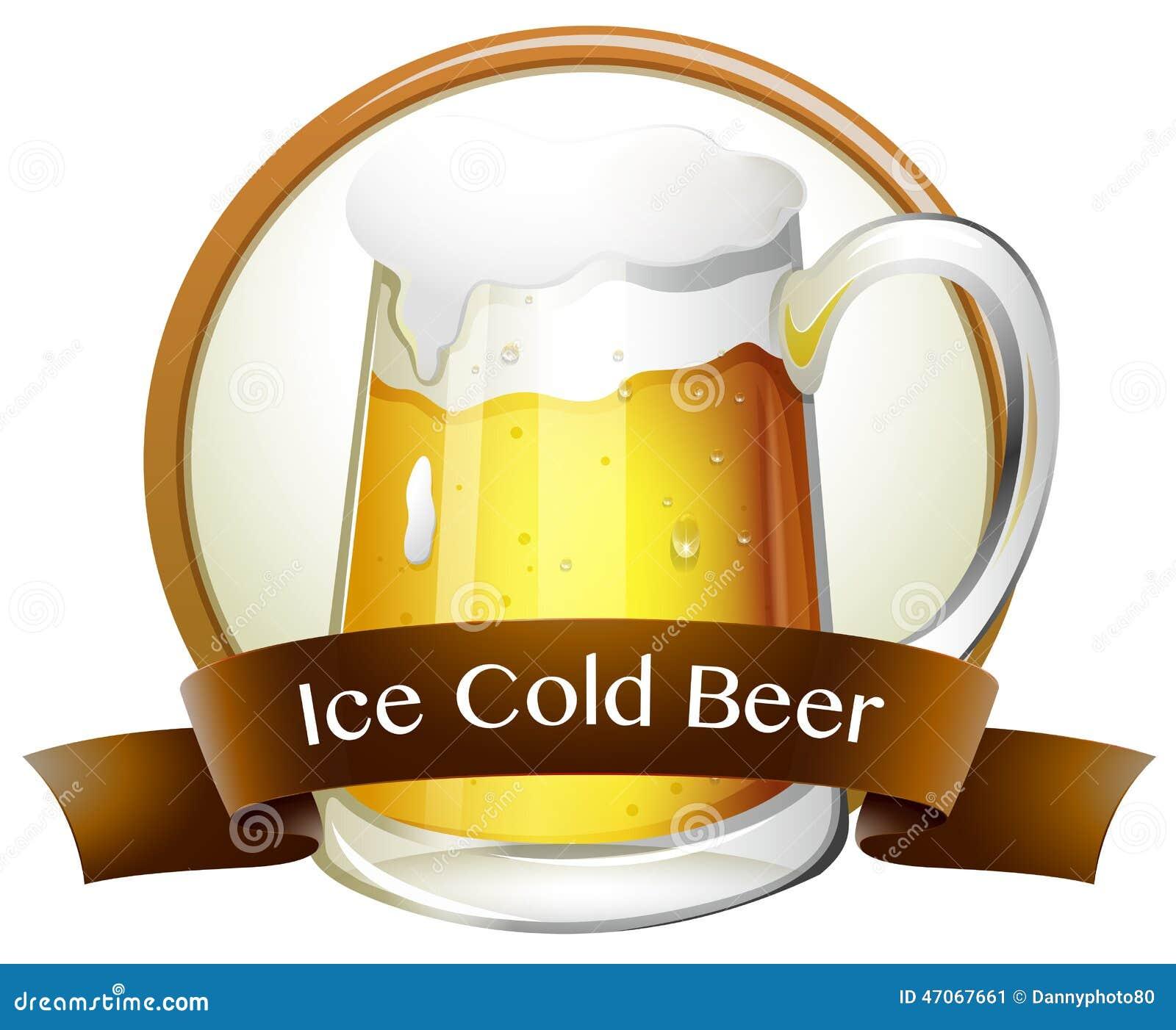 Lód - zimny piwo