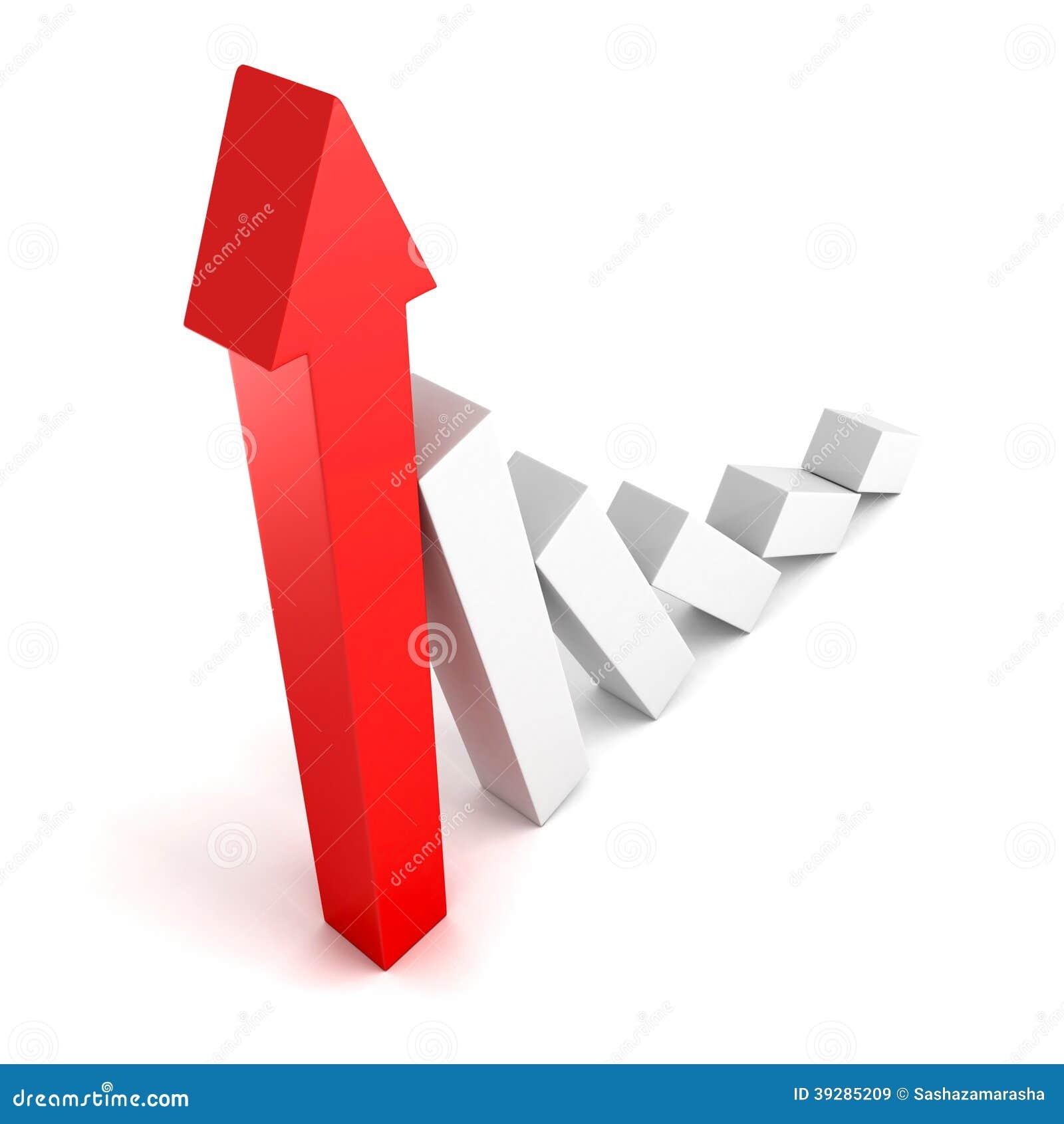 Löneförhöjning för graf 3d i vinster eller förtjänstgorw upp pil