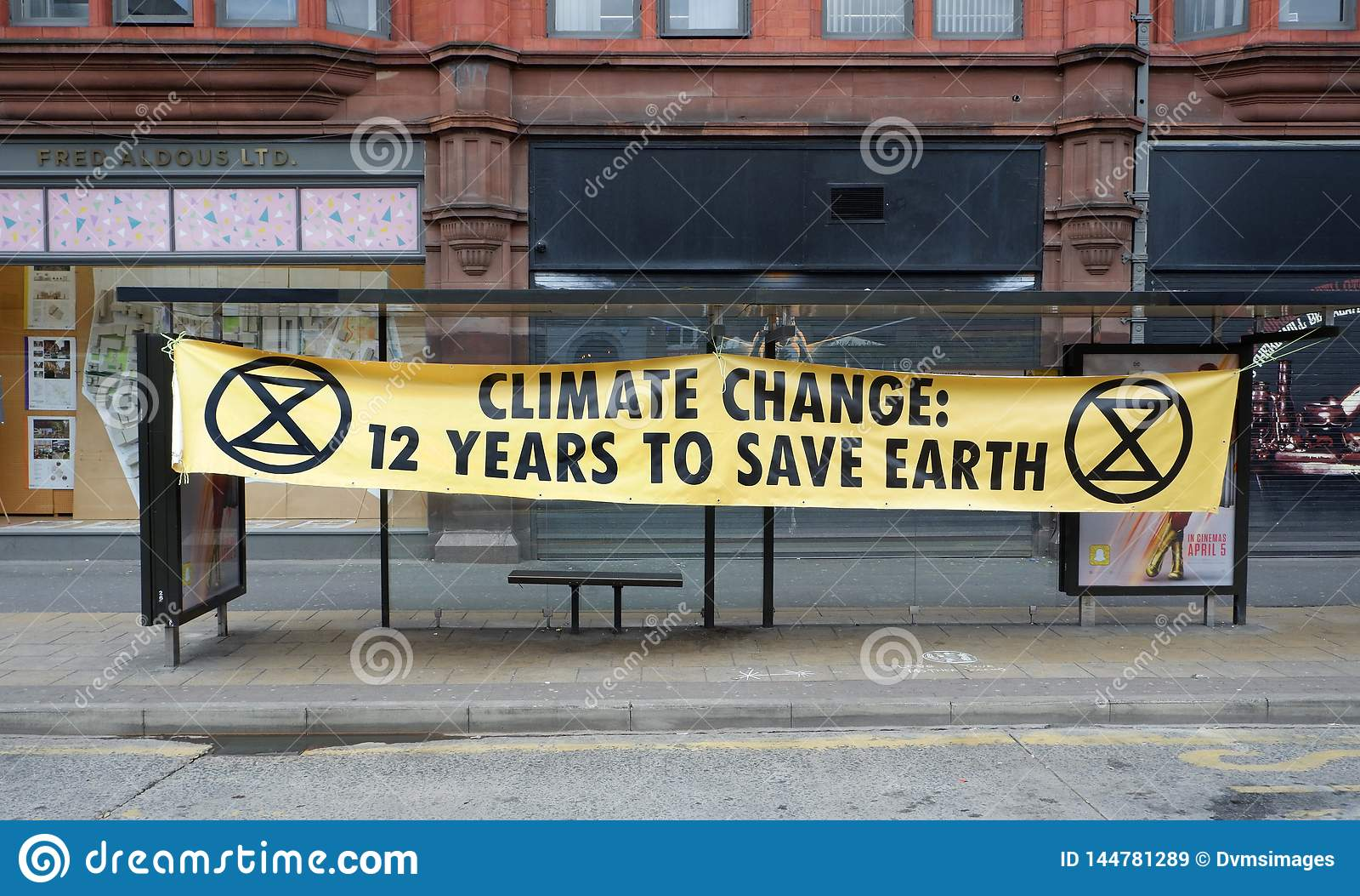 Löschungs-Aufstands-Klimawandel-Warnung in Manchester