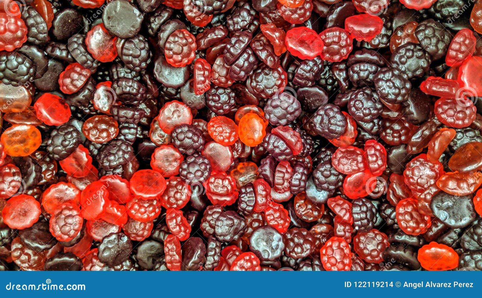 Lösen Sie farbige Süßigkeit