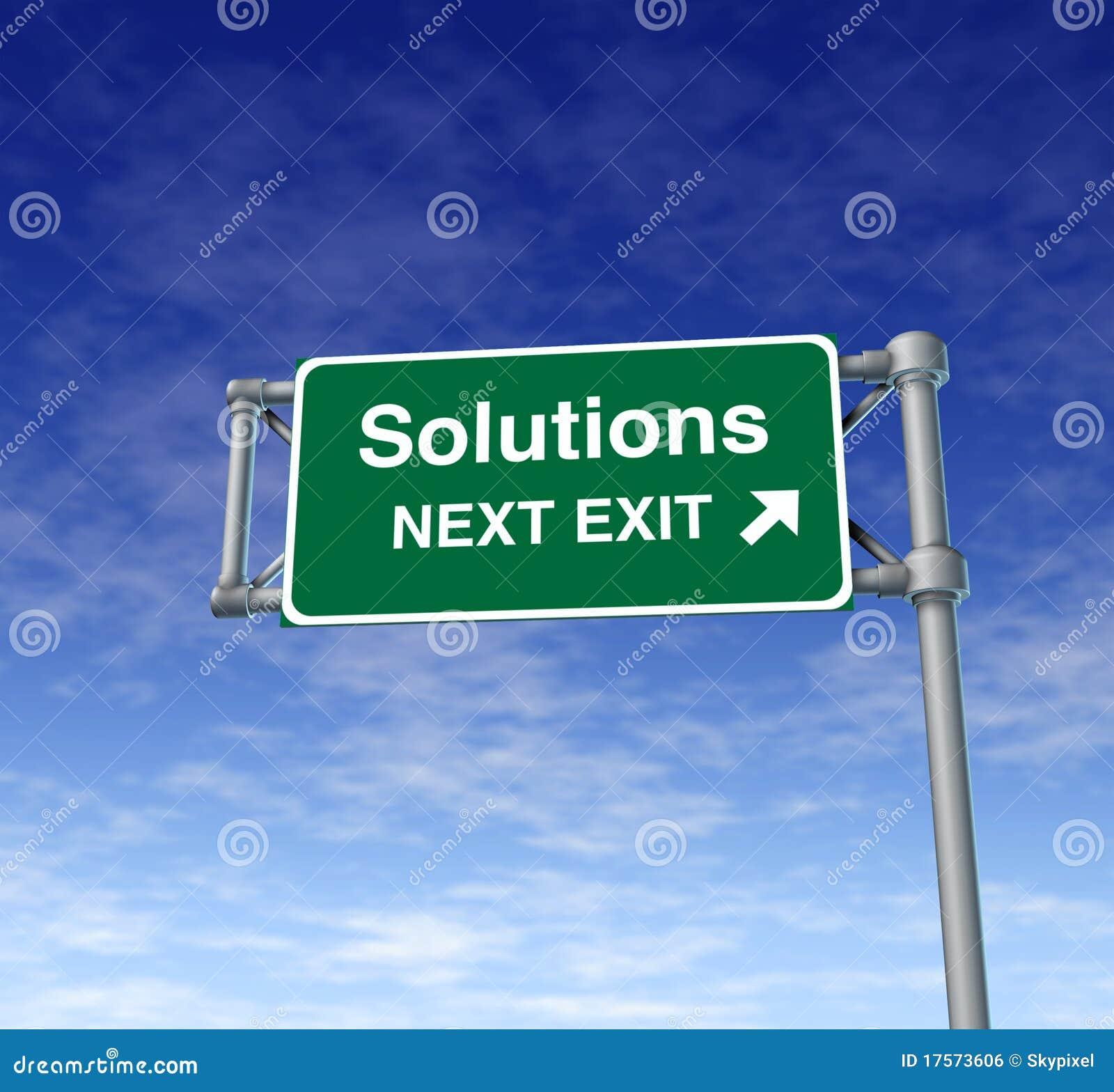 Lösungs-Autobahn-Ausgangs-Zeichendatenbahn-Straßensymbol