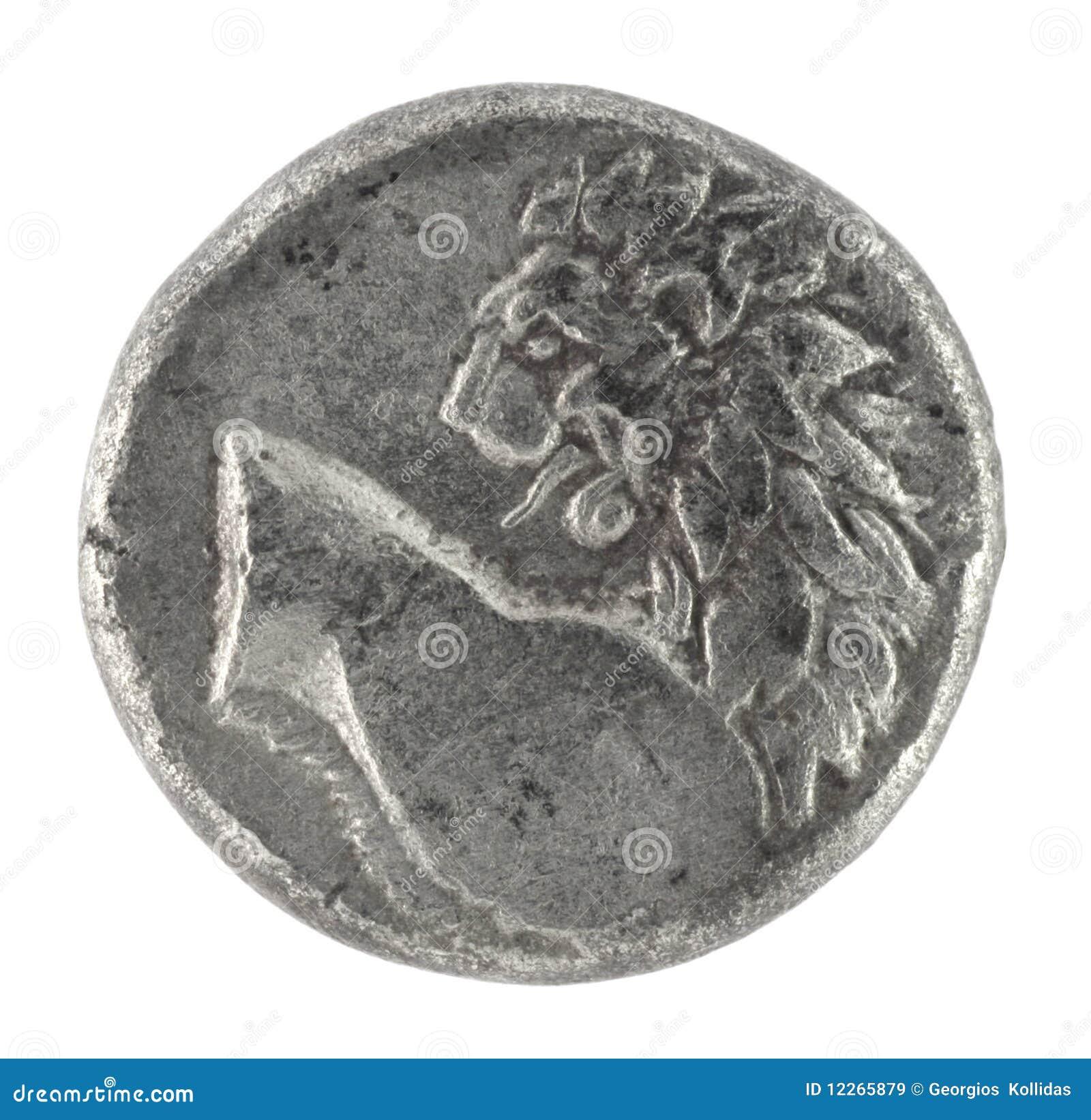 Löwe auf altgriechischem halbem Drachm 350 BC