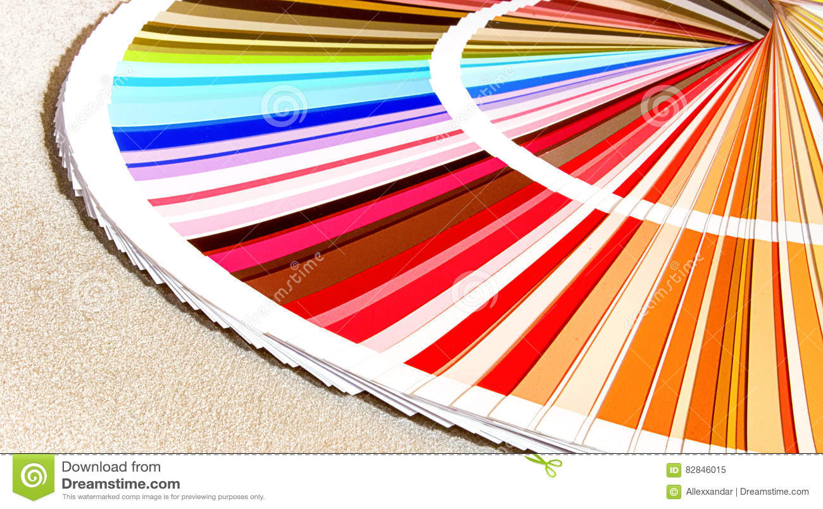Léchantillon Colore Le Catalogue Guide De Palette De Couleur Image
