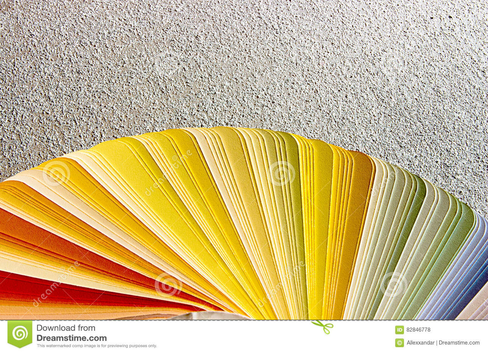 Léchantillon Colore Le Catalogue Guide De Palette De Couleur Photo