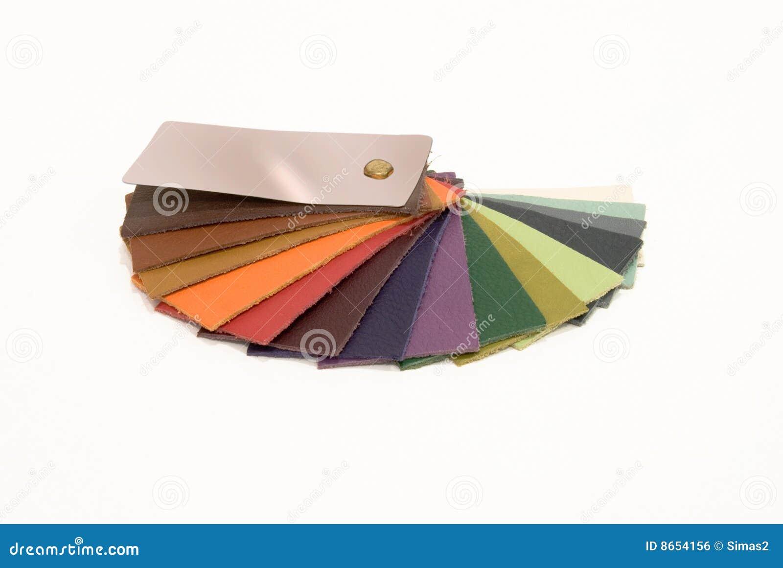 L échantillon en cuir colore le catalogue