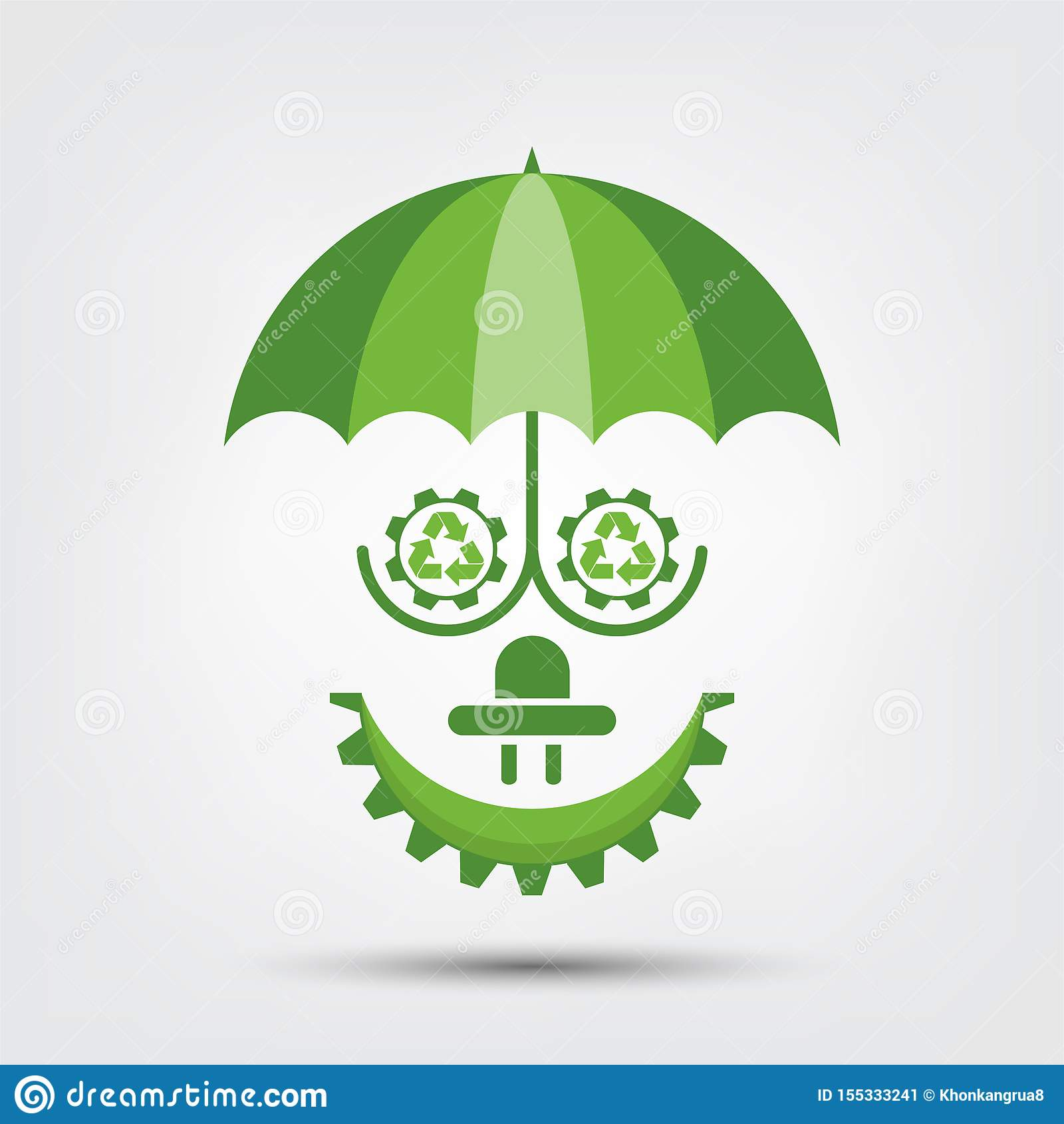 L écologie de personnes et le concept environnemental, symbole de la terre avec les feuilles vertes autour des villes aident le m